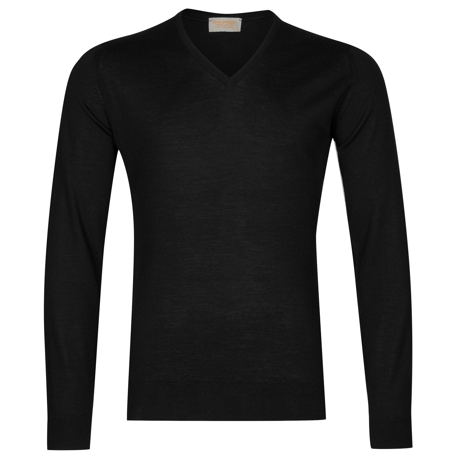 John Smedley newark Merino Wool and Cashmere Pullover in Black-L