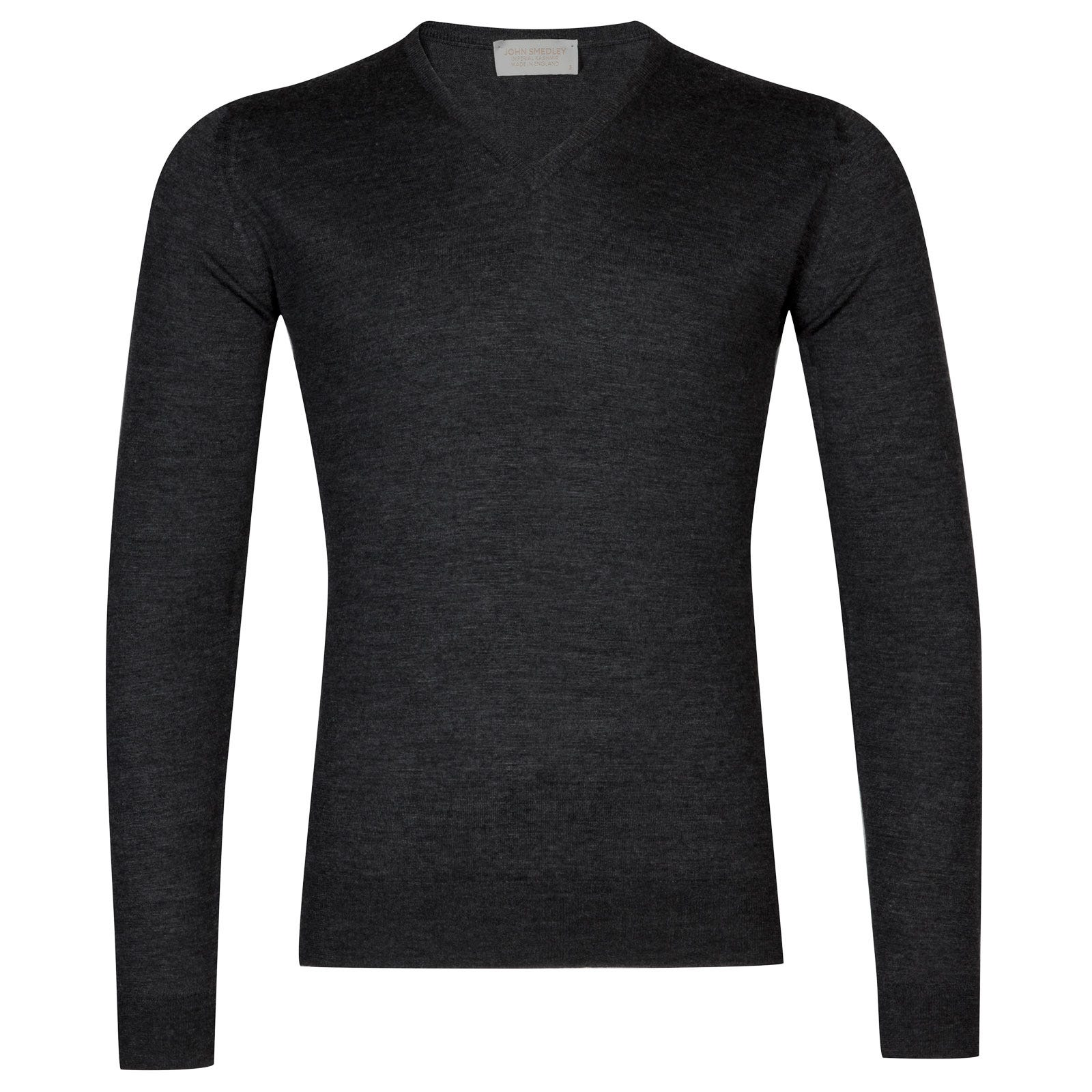 John Smedley newark Merino Wool and Cashmere Pullover in Charcoal-L