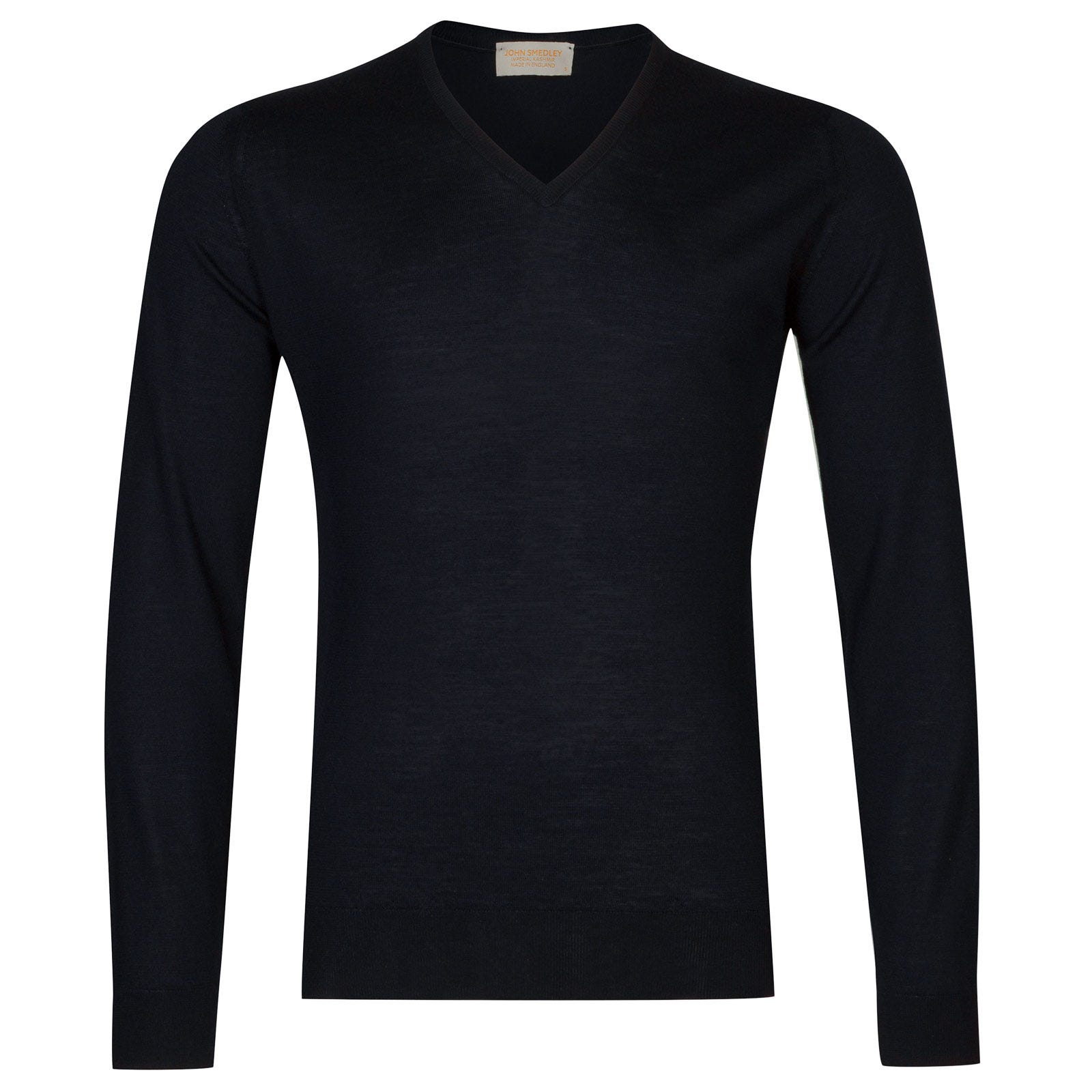 John Smedley newark Merino Wool and Cashmere Pullover in Midnight-XL