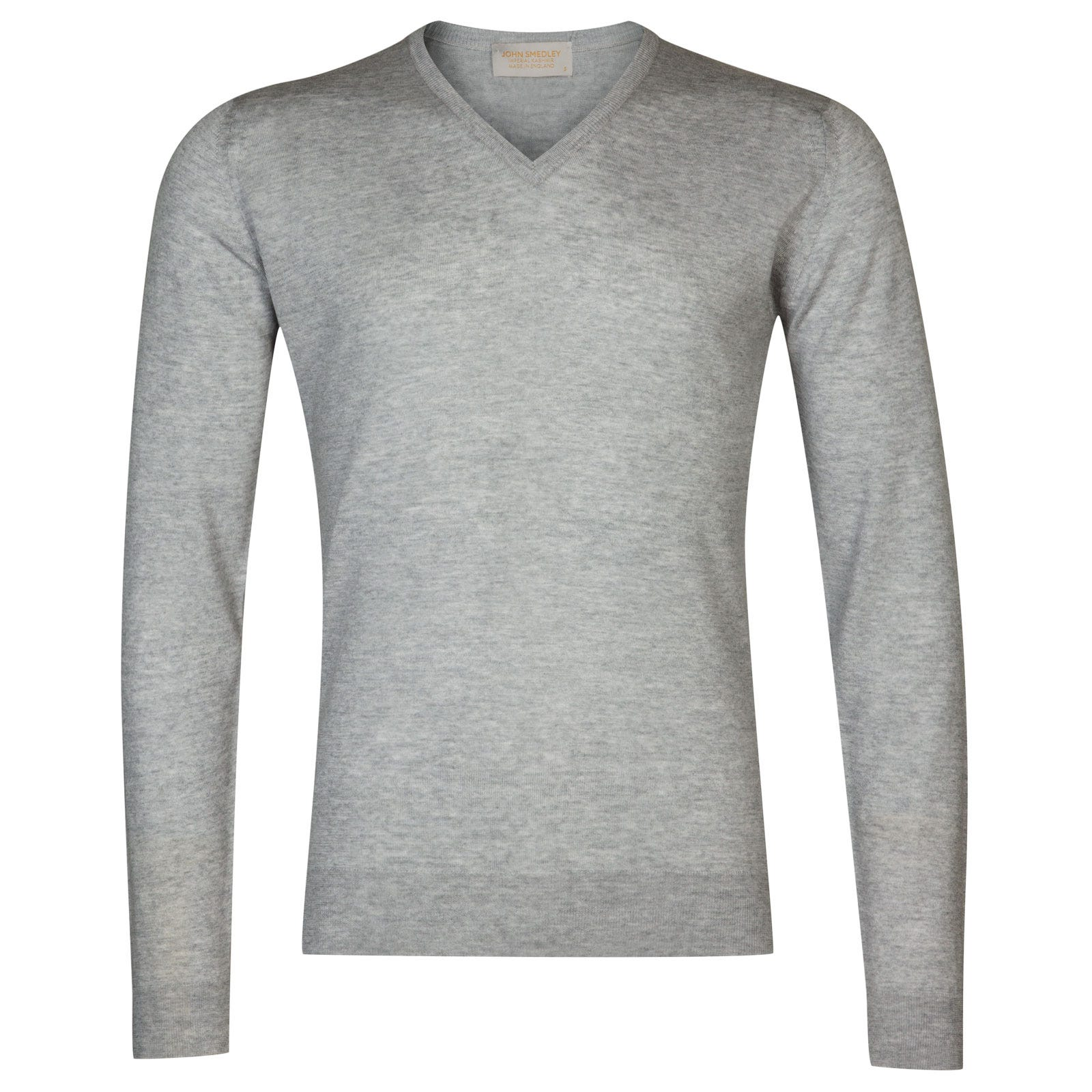 John Smedley newark Merino Wool and Cashmere Pullover in Soft Grey-XL