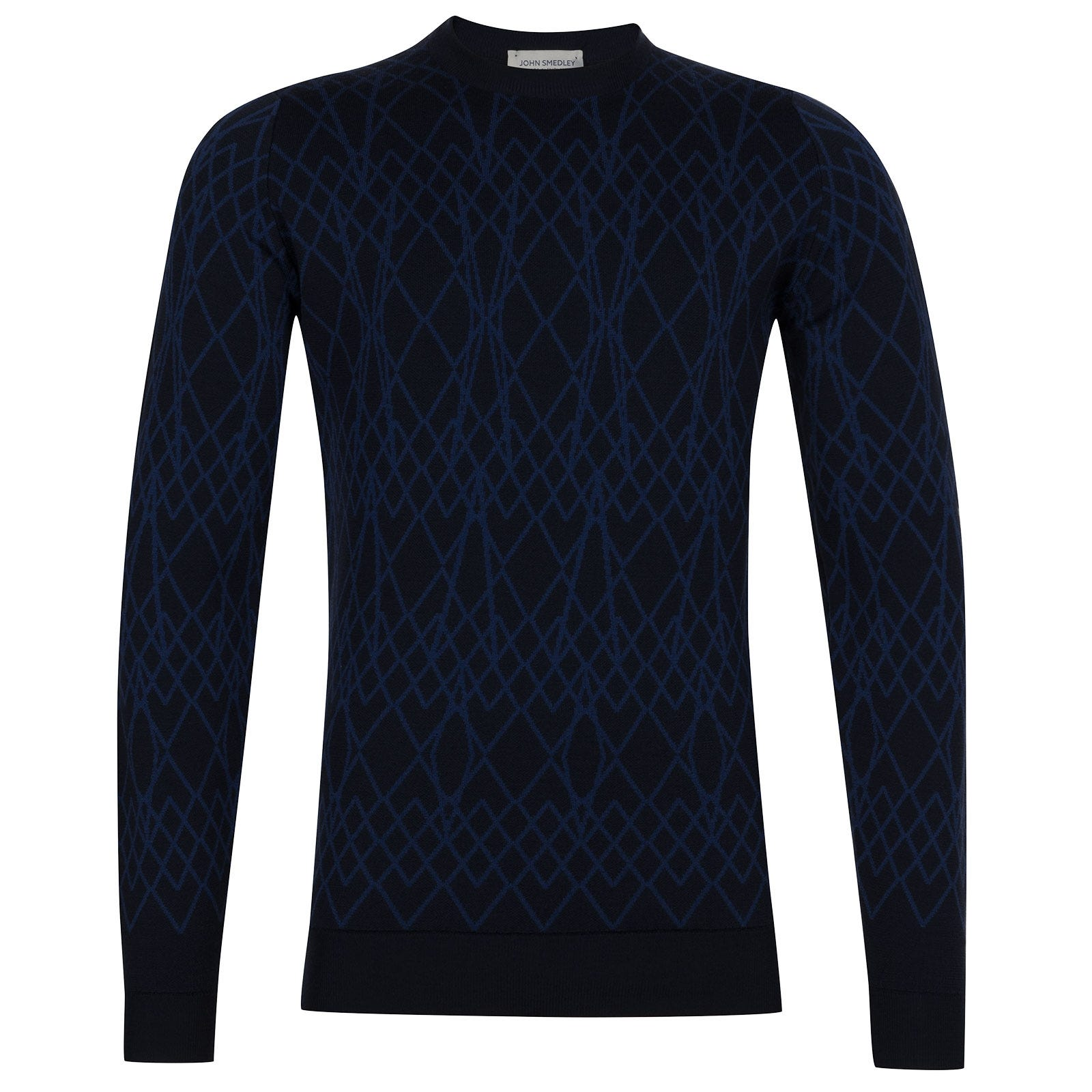 John Smedley Newton Extra Fine Merino Wool Pullover in Midnight-S