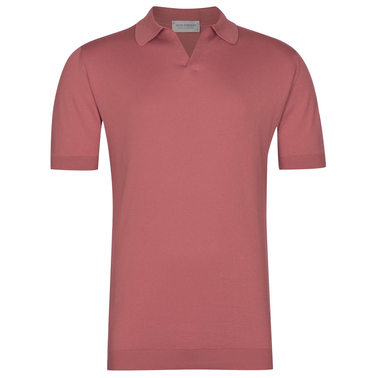 John Smedley Noah in Azalea Pink Shirt-XLG