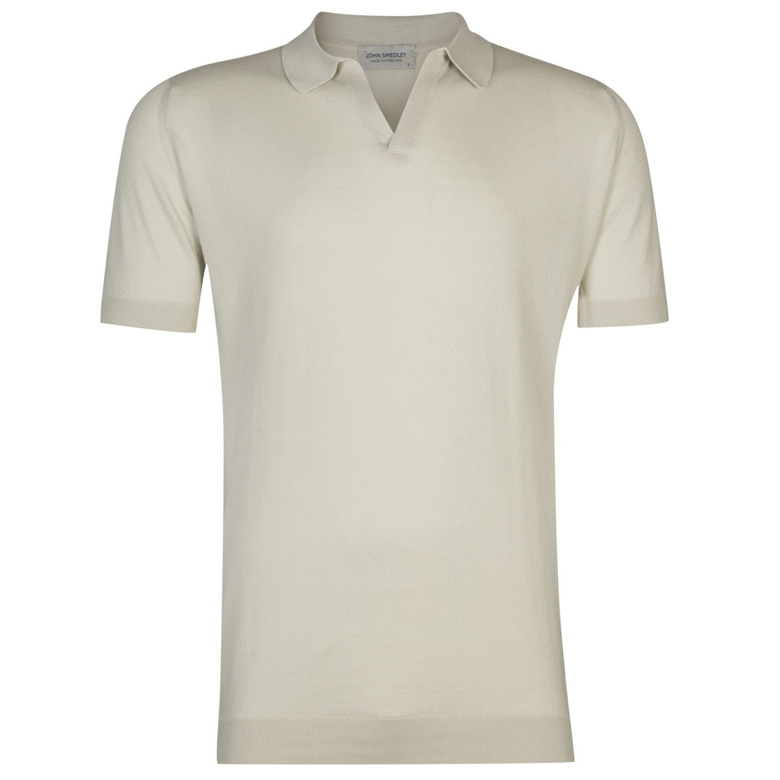 John Smedley Noah Sea Island Cotton Shirt in Brunel Beige-M