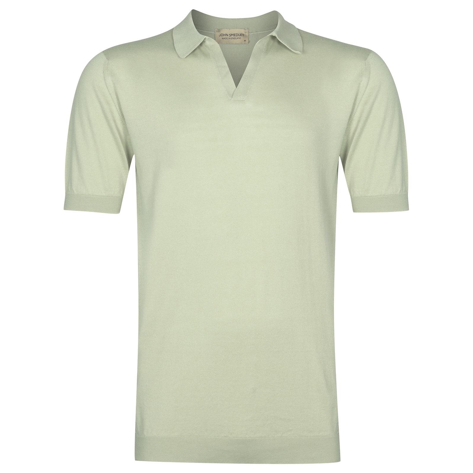 John Smedley Noah in Bud Green Shirt-XLG