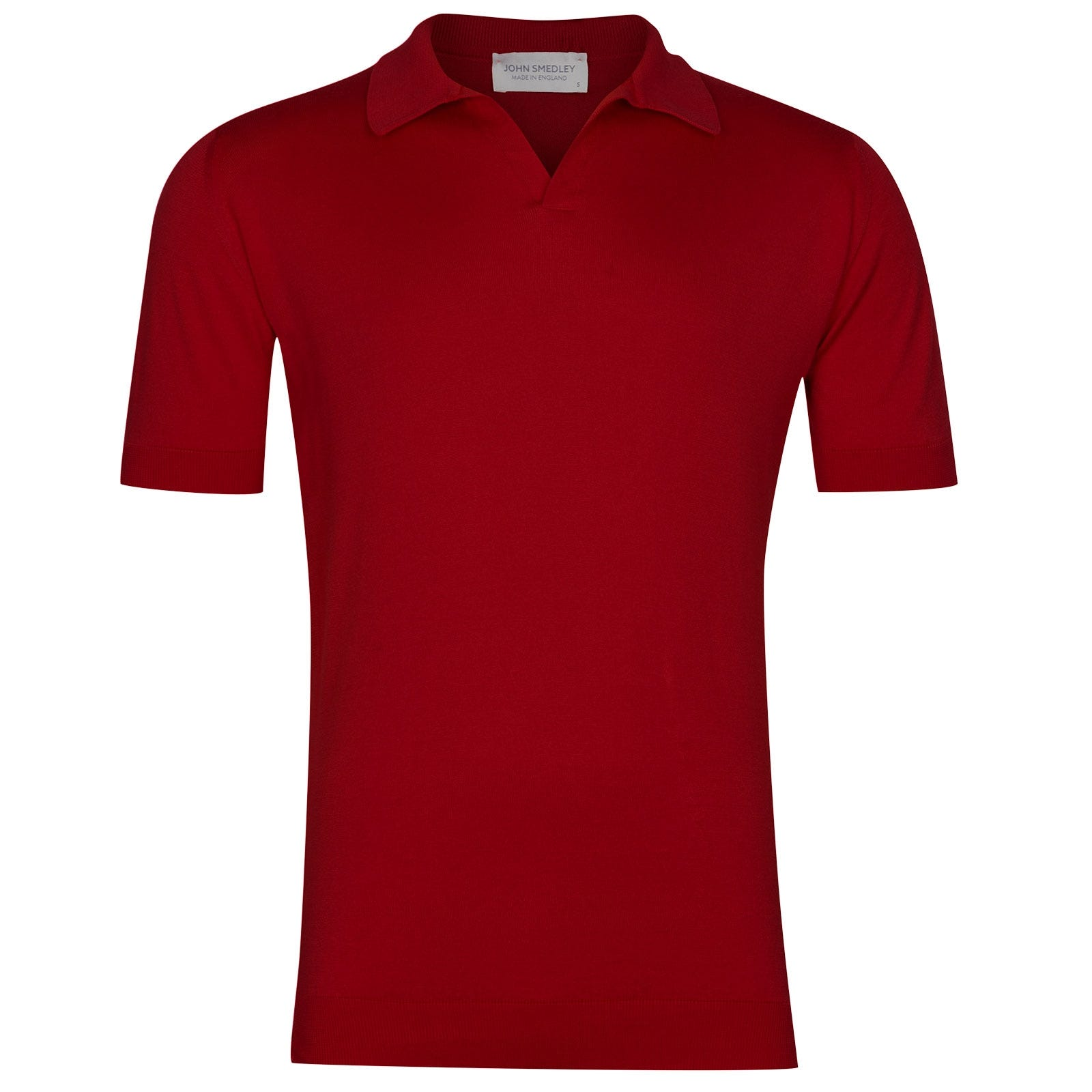 John Smedley Noah Sea Island Cotton Shirt in Dandy Red-S