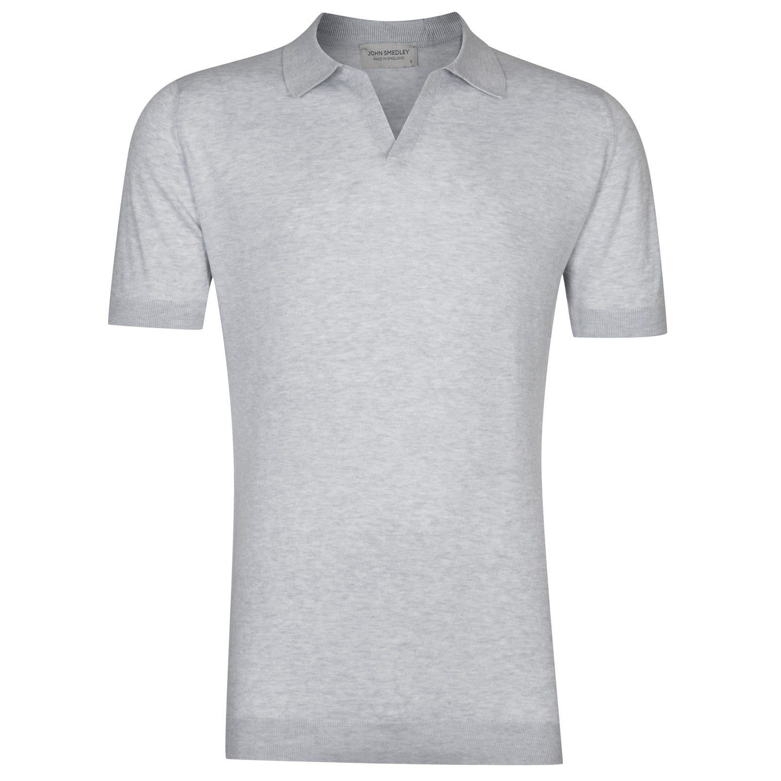 John Smedley Noah Sea Island Cotton Shirt in Feather Grey-S