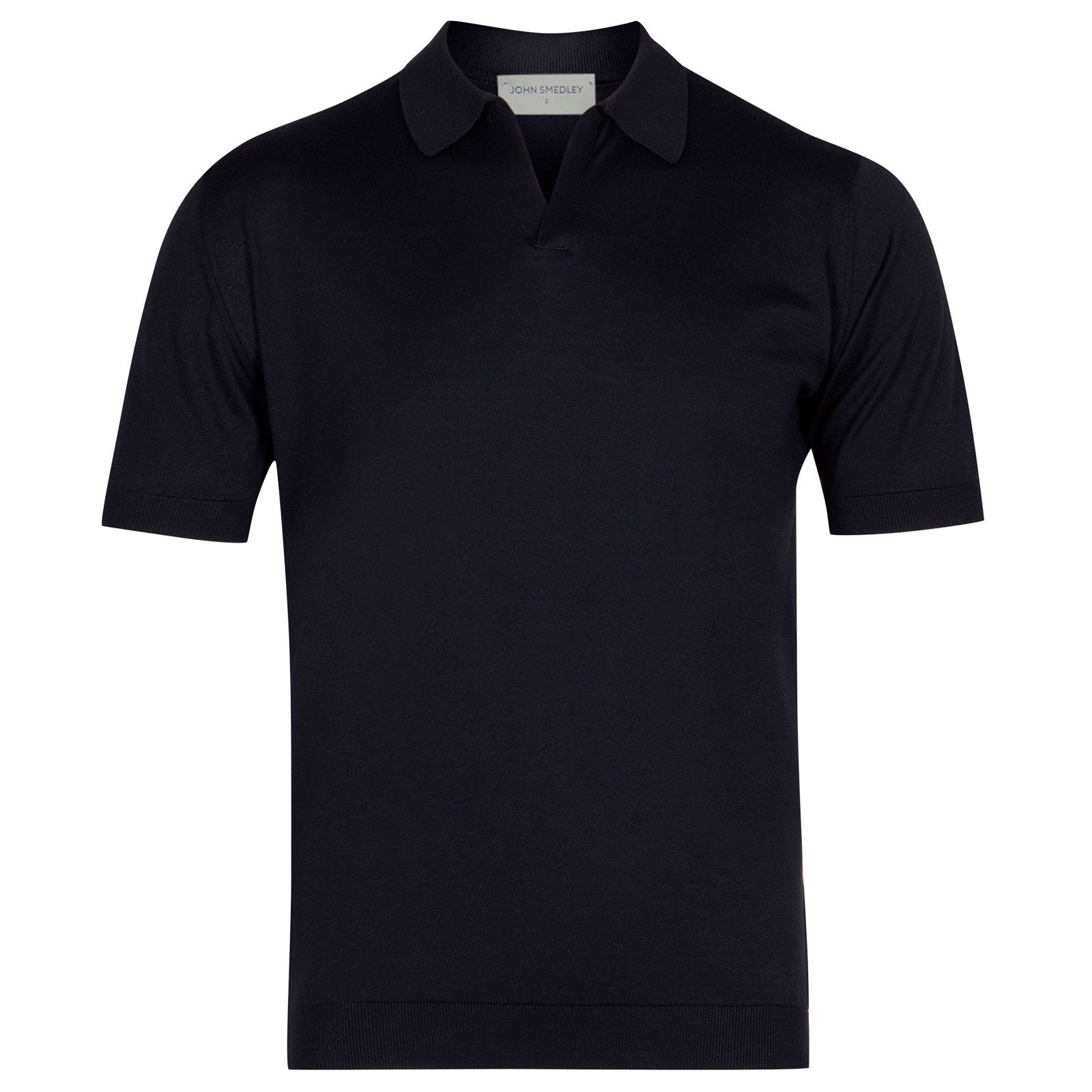 John Smedley Noah Sea Island Cotton Shirt in Navy-S