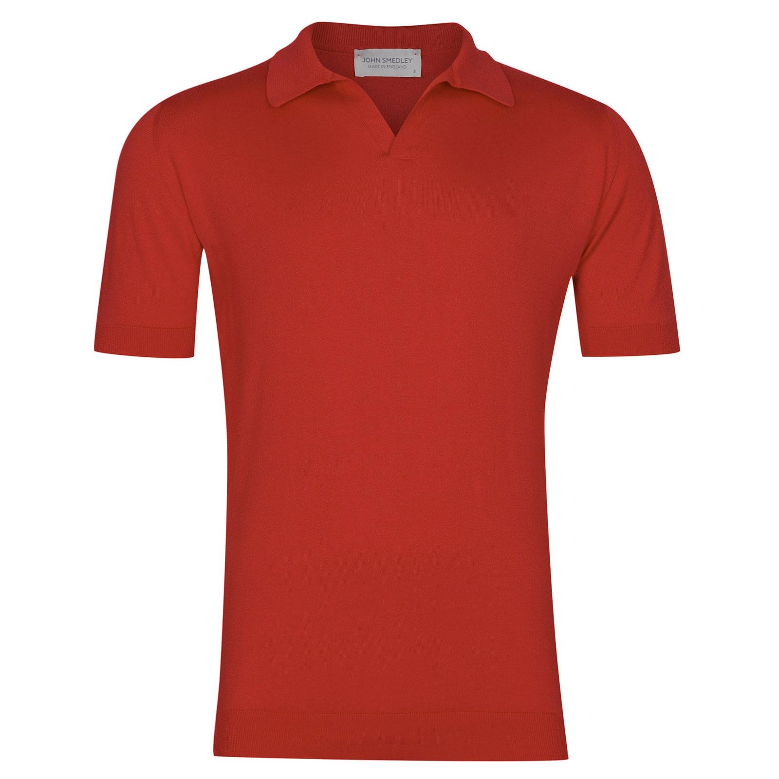 John Smedley Noah in Red Admiral Shirt-XLG