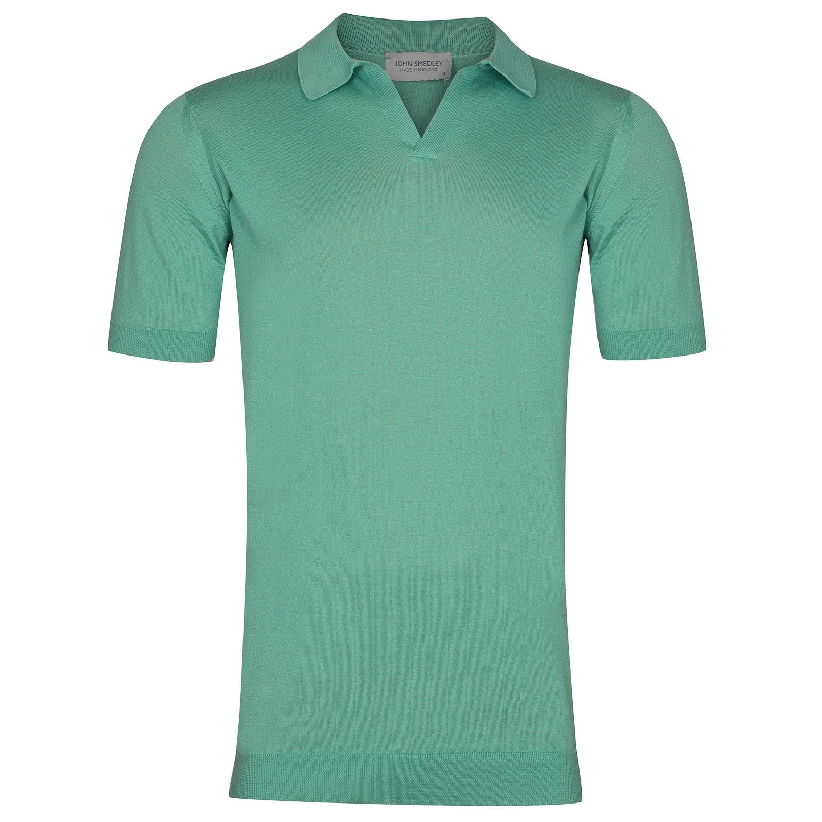 John Smedley Noah Sea Island Cotton Shirt in Reflective Aqua-XXL
