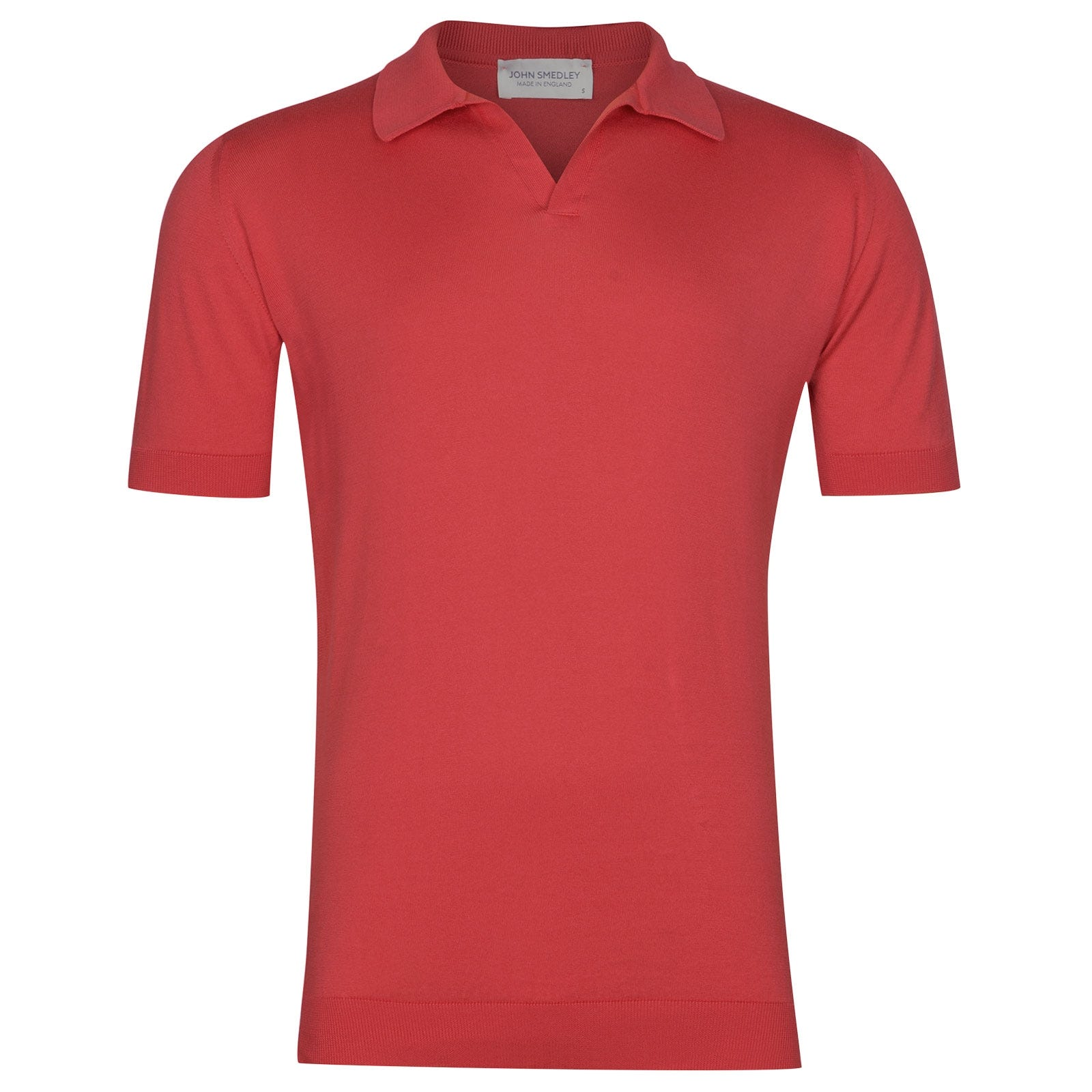 John Smedley Noah Sea Island Cotton Shirt in Ruche Red-XXL