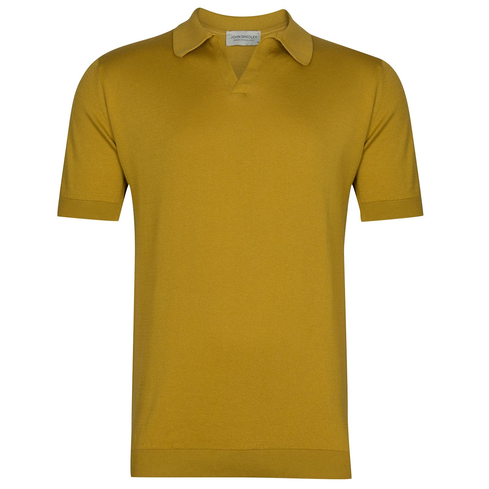 John Smedley Noah in Stamen Yellow Shirt-XLG