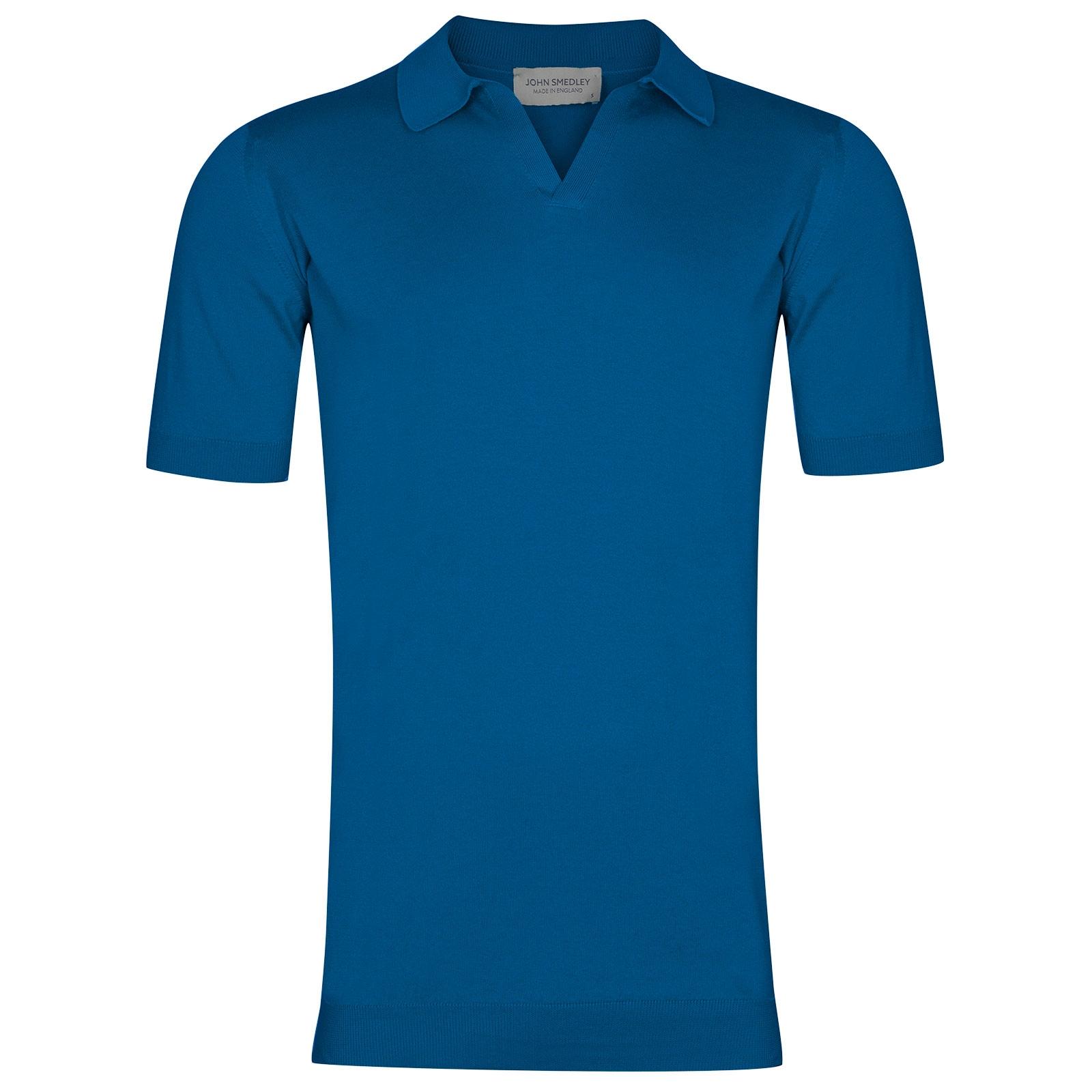 John Smedley Noah in Statice Blue Shirt-LGE
