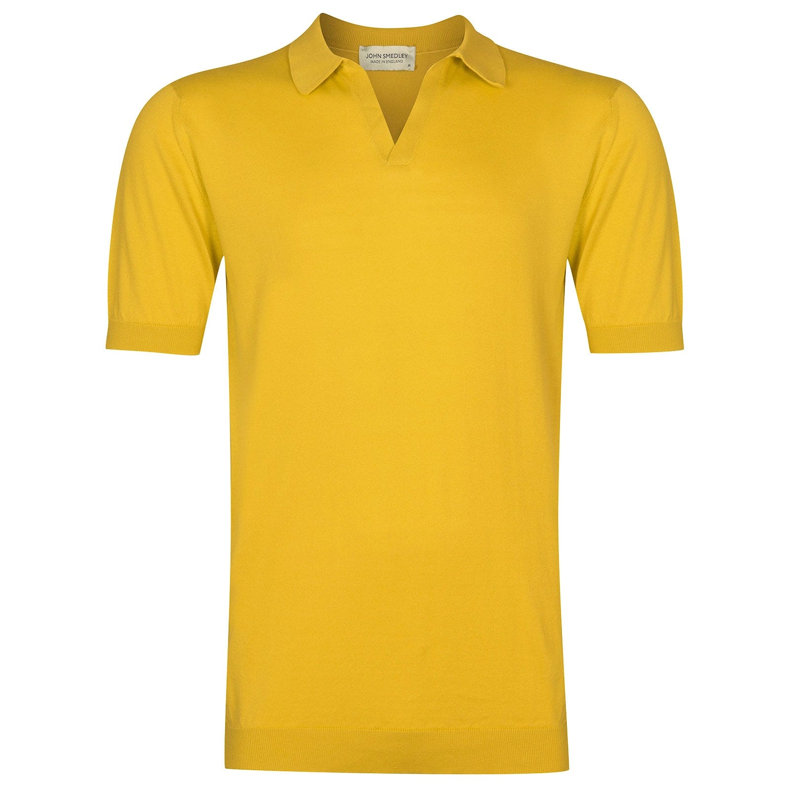 John Smedley Noah Sea Island Cotton Shirt in Tailors Yellow-S