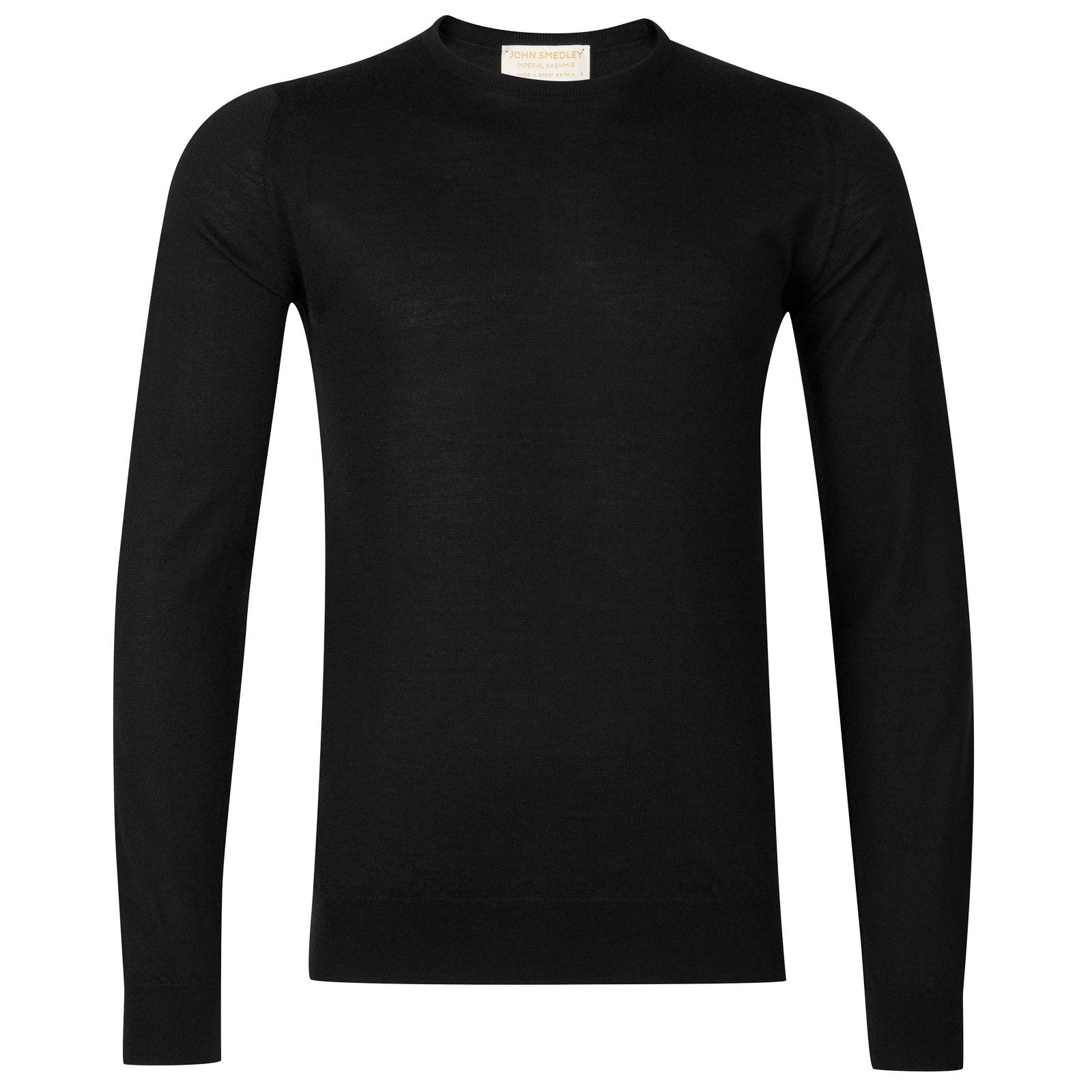 John Smedley Norland Cashmere and Silk Pullover in Black-L