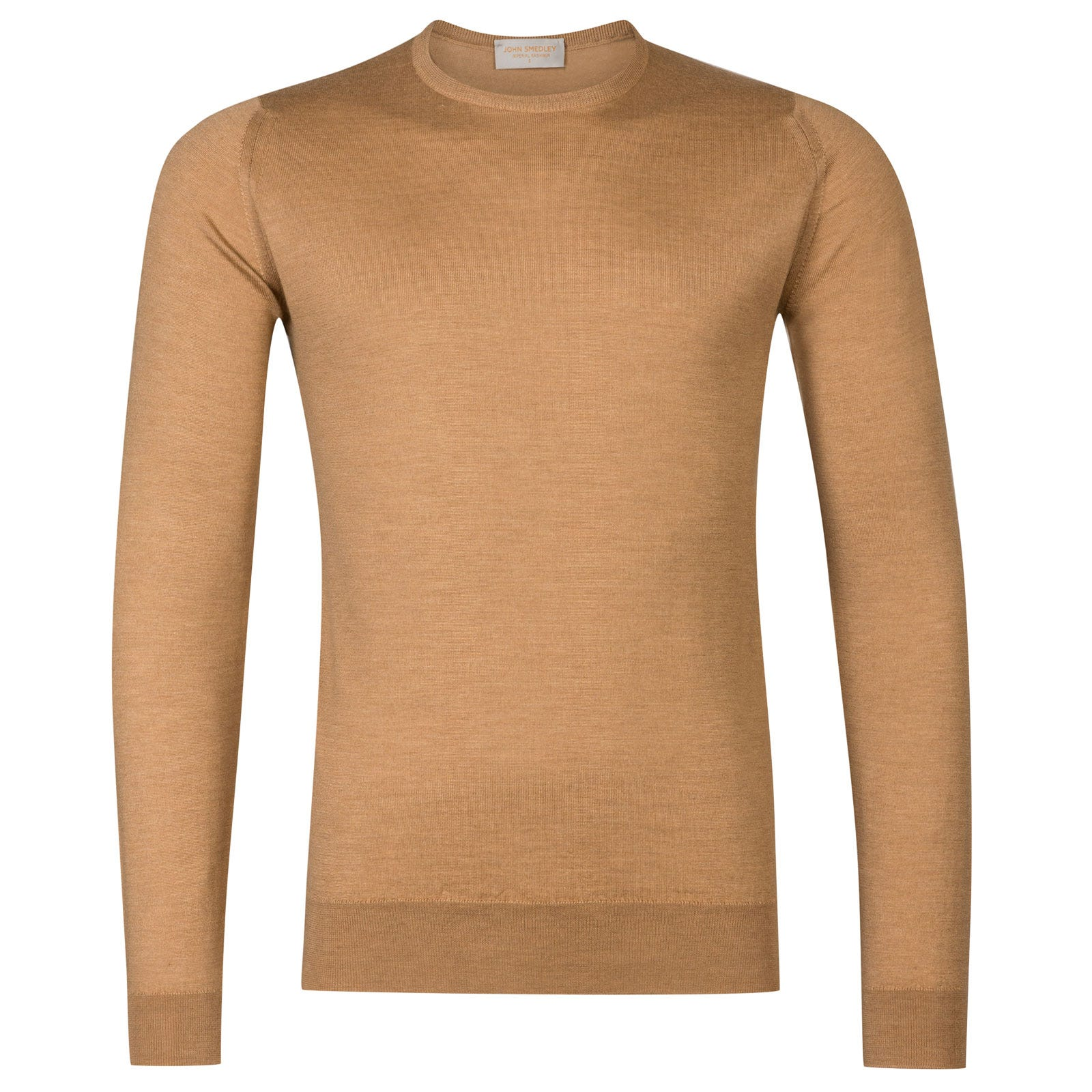 John Smedley Norland Cashmere and Silk Pullover in Camel-XXL