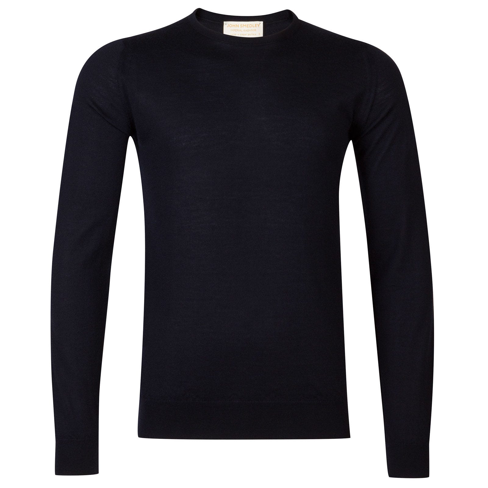 John Smedley Norland Cashmere and Silk Pullover in Navy-XXL