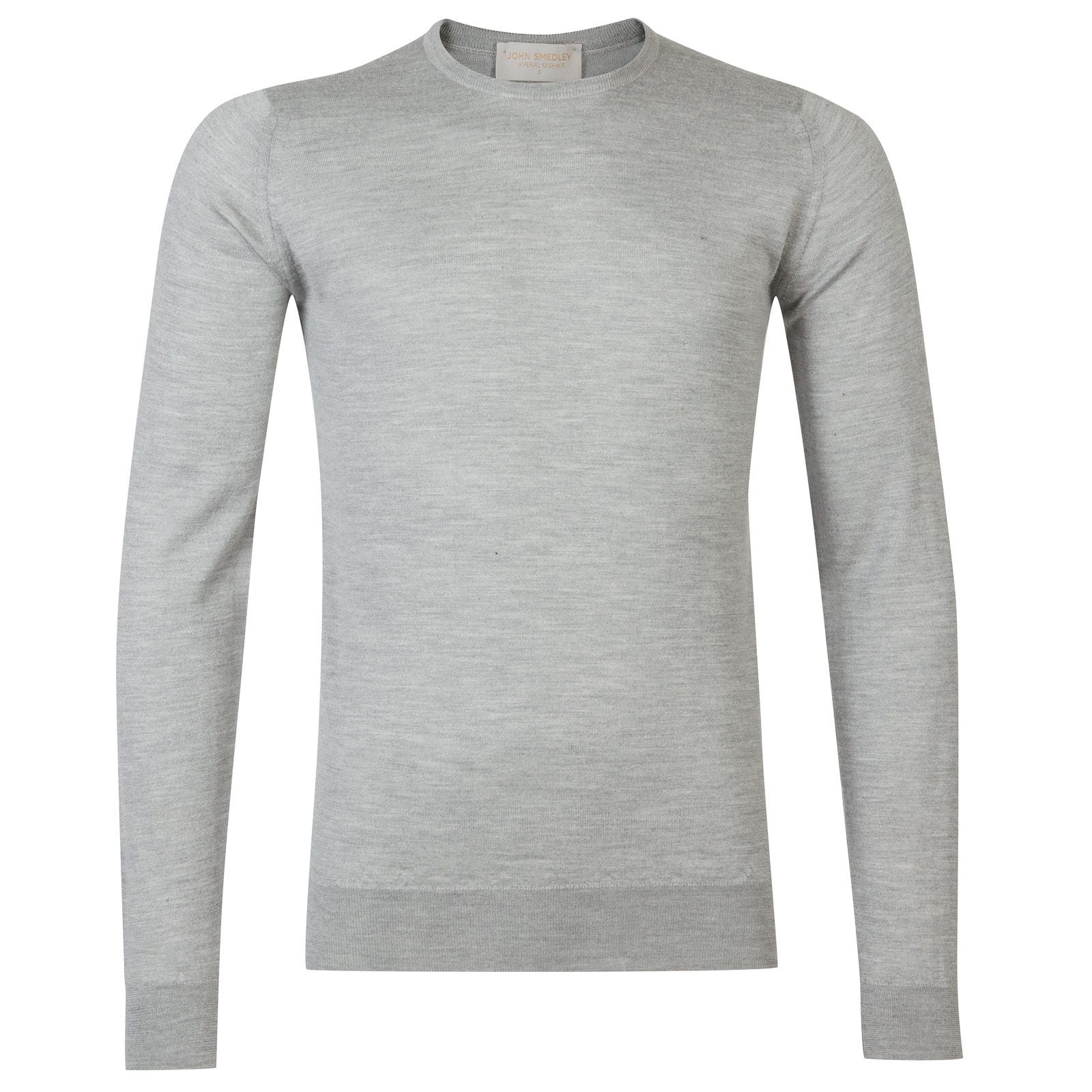 John Smedley Norland Cashmere and Silk Pullover in Silver-XXL