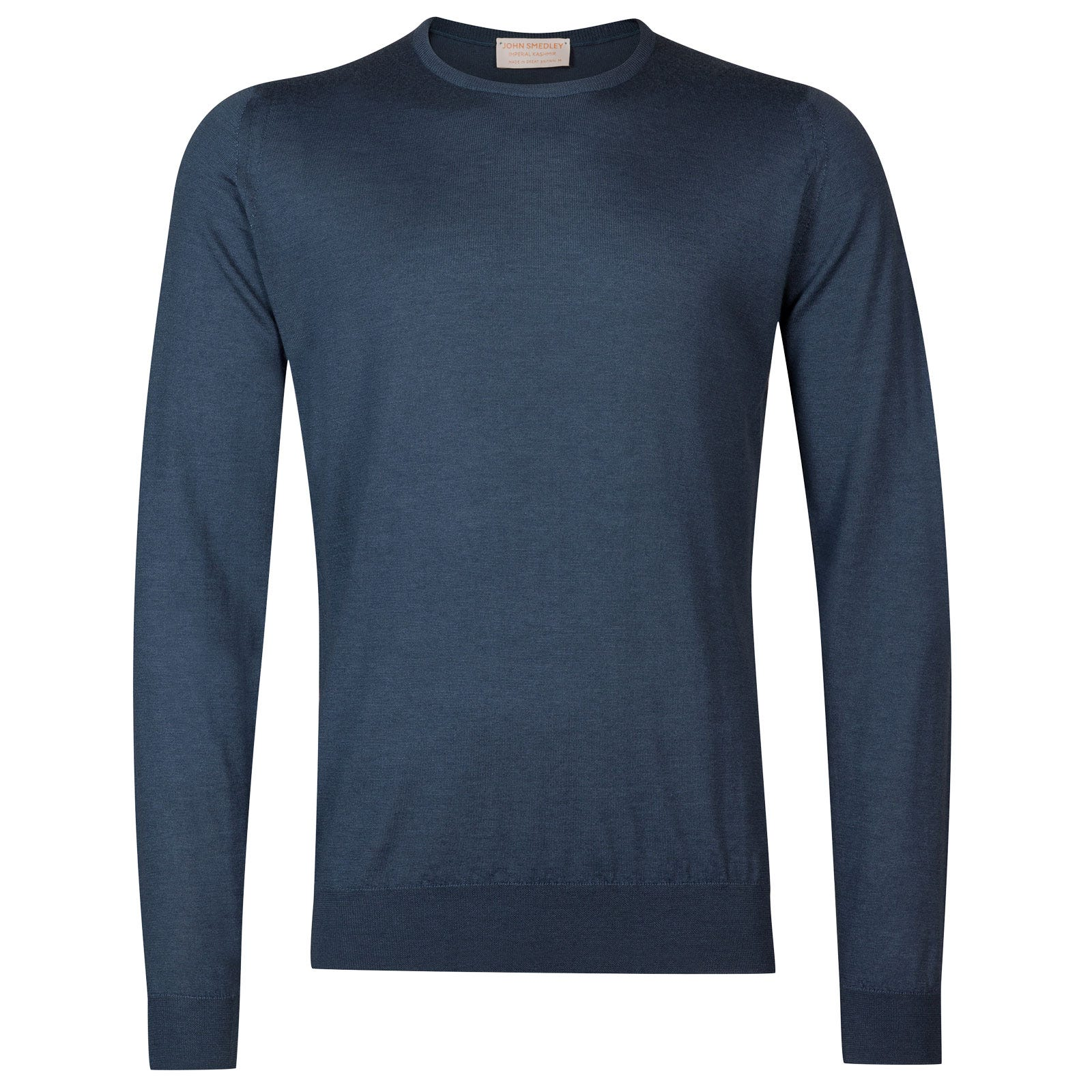 John Smedley Norland Cashmere and Silk Pullover in Teal-XXL