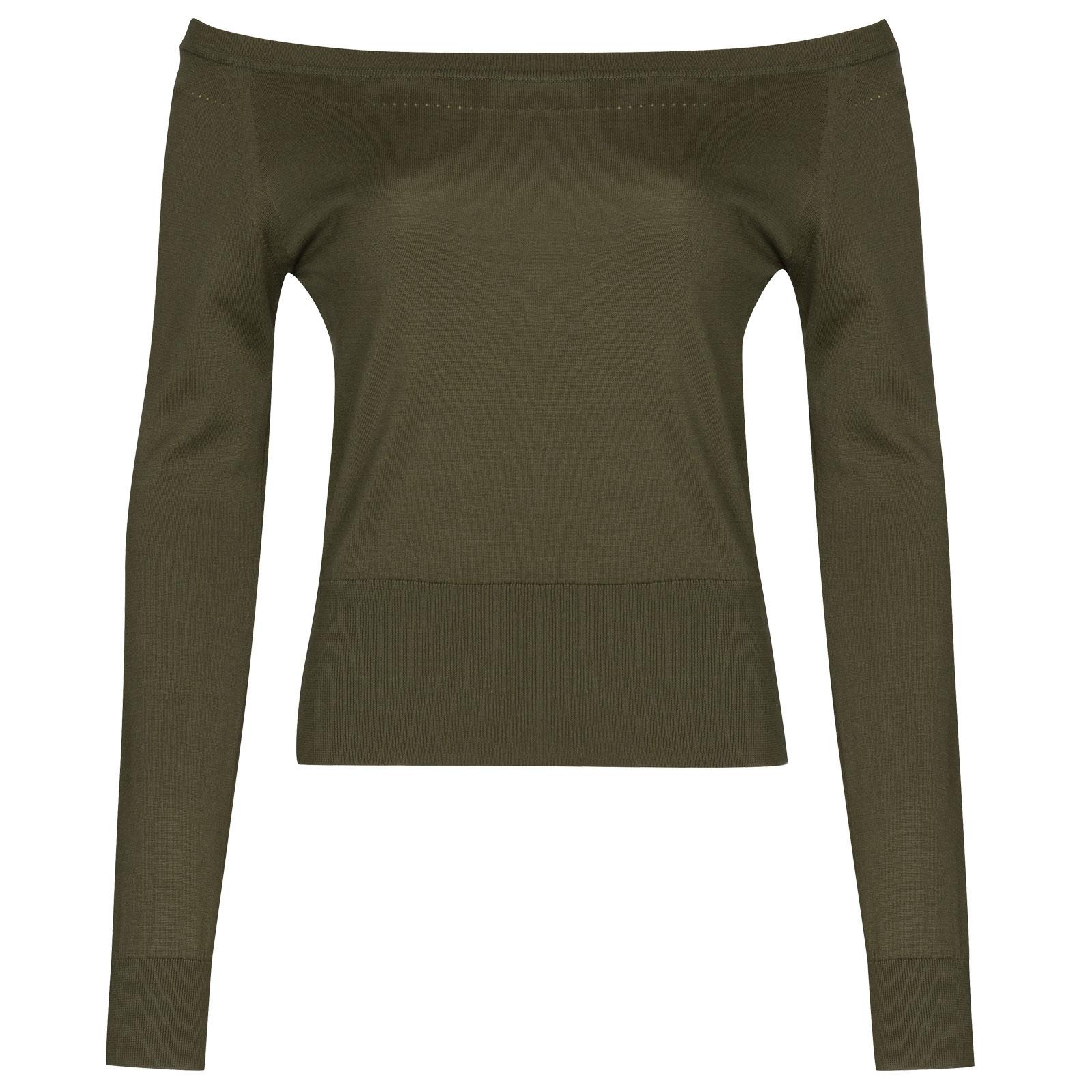 John Smedley Odele in Sepal Green Sweater-SML