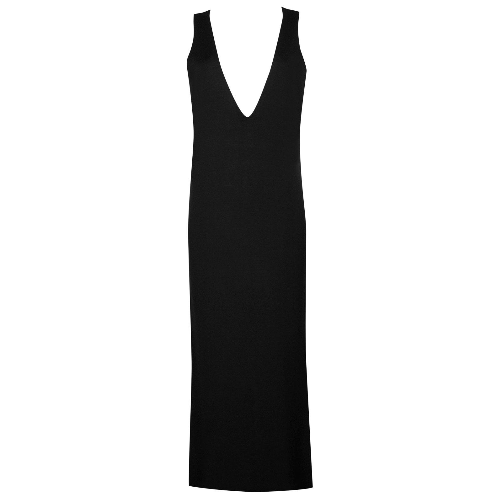 John Smedley odell Merino Wool Dress in Black-S