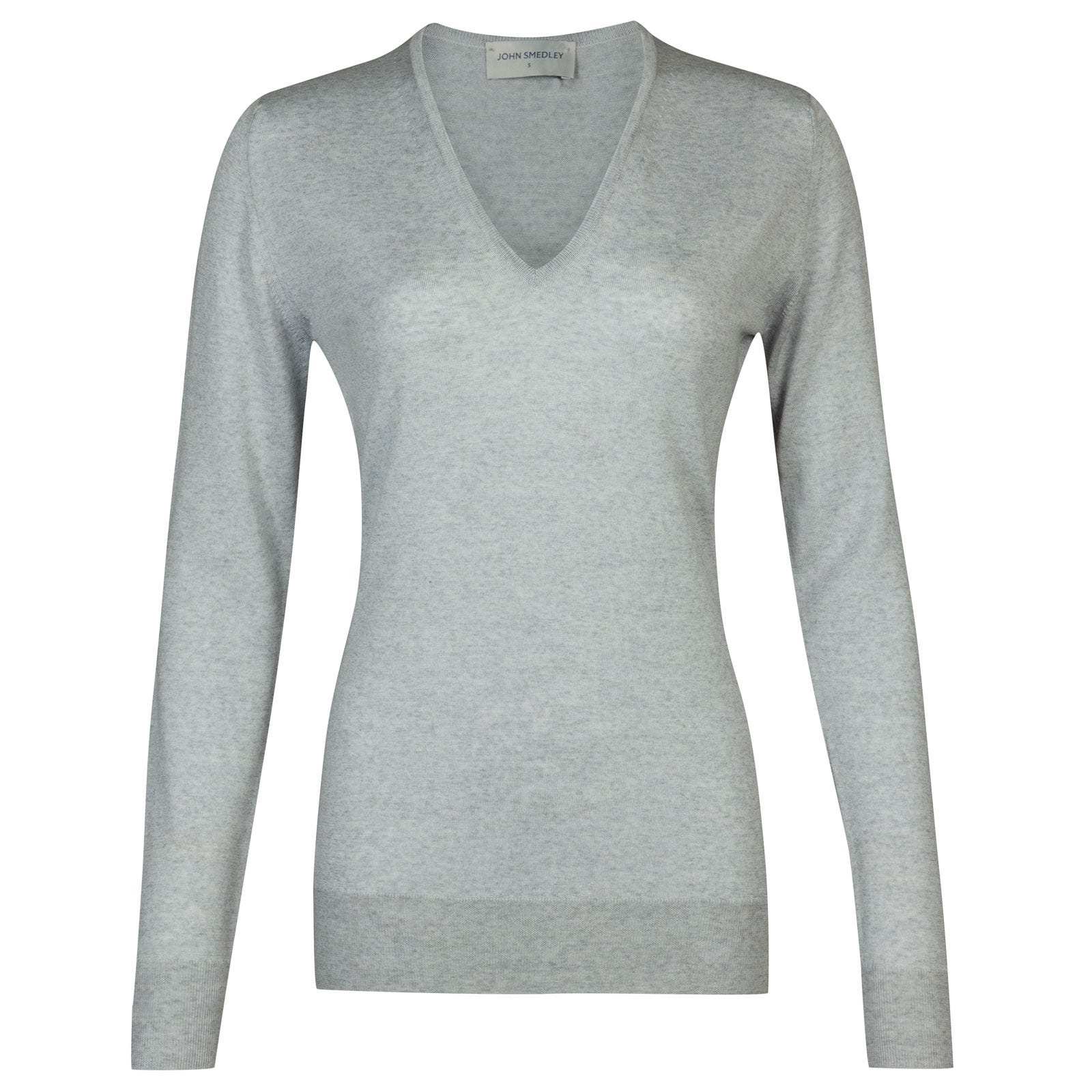 John Smedley orchid Merino Wool Sweater in Bardot Grey-S