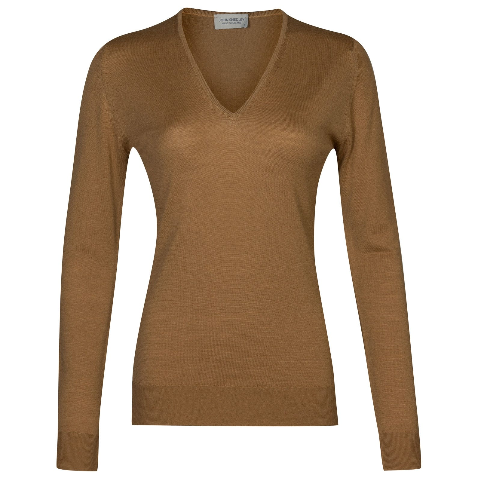 John Smedley Orchid in Camel Sweater-LGE