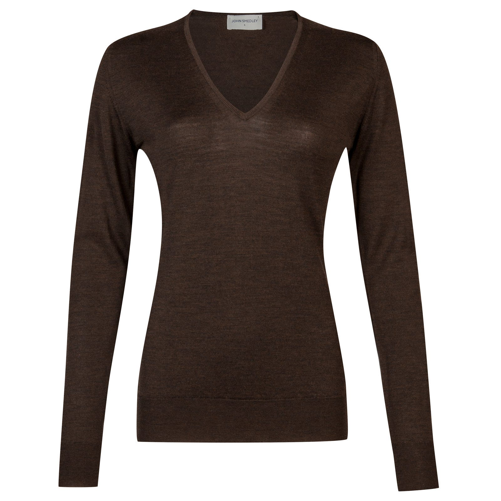 John Smedley orchid Merino Wool Sweater in Chestnut-S