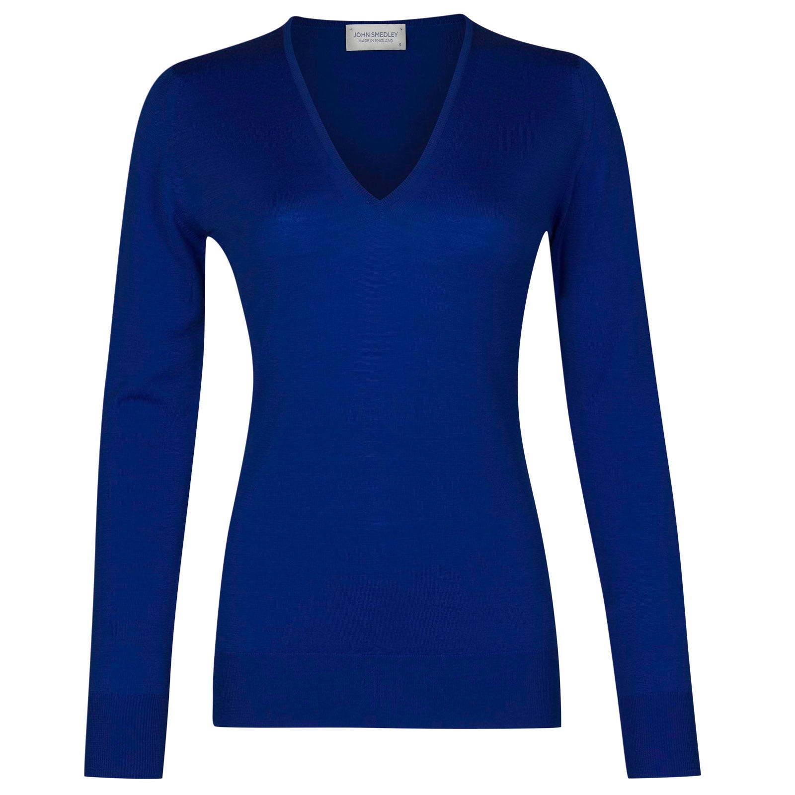 John Smedley orchid Merino Wool Sweater in Coniston Blue-L