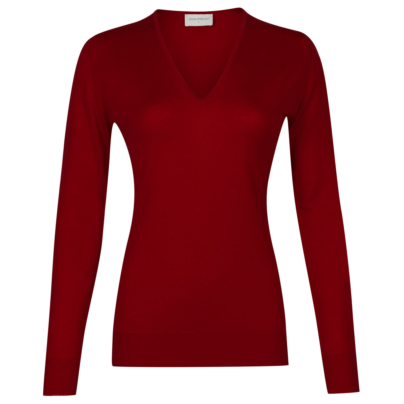 John Smedley orchid Merino Wool Sweater in Crimson Forest-S