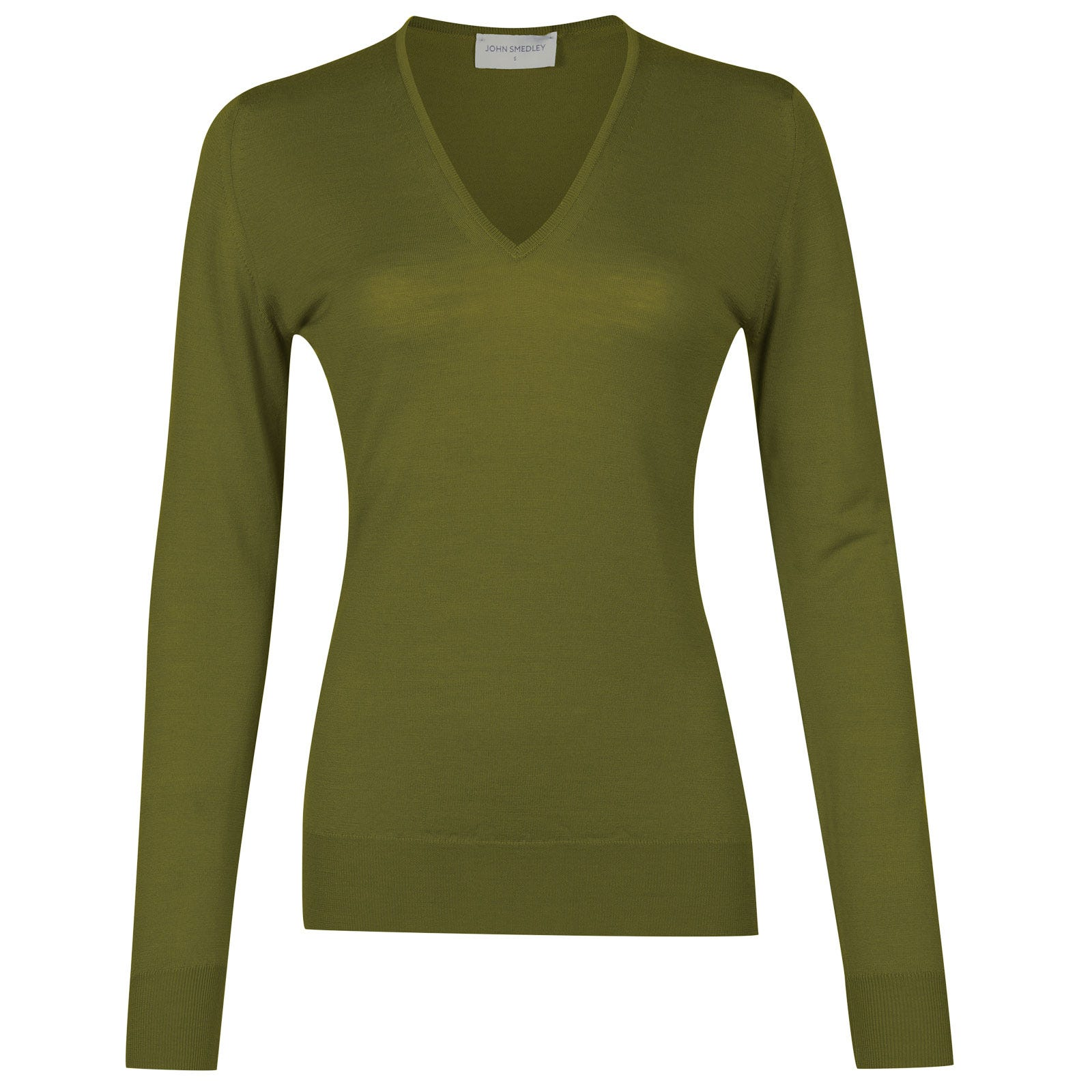 John Smedley orchid Merino Wool Sweater in Lumsdale Green-XL