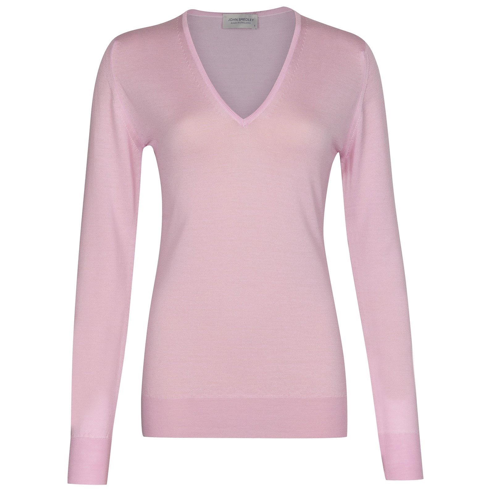 John Smedley Orchid in Pink Blossom Sweater-MED