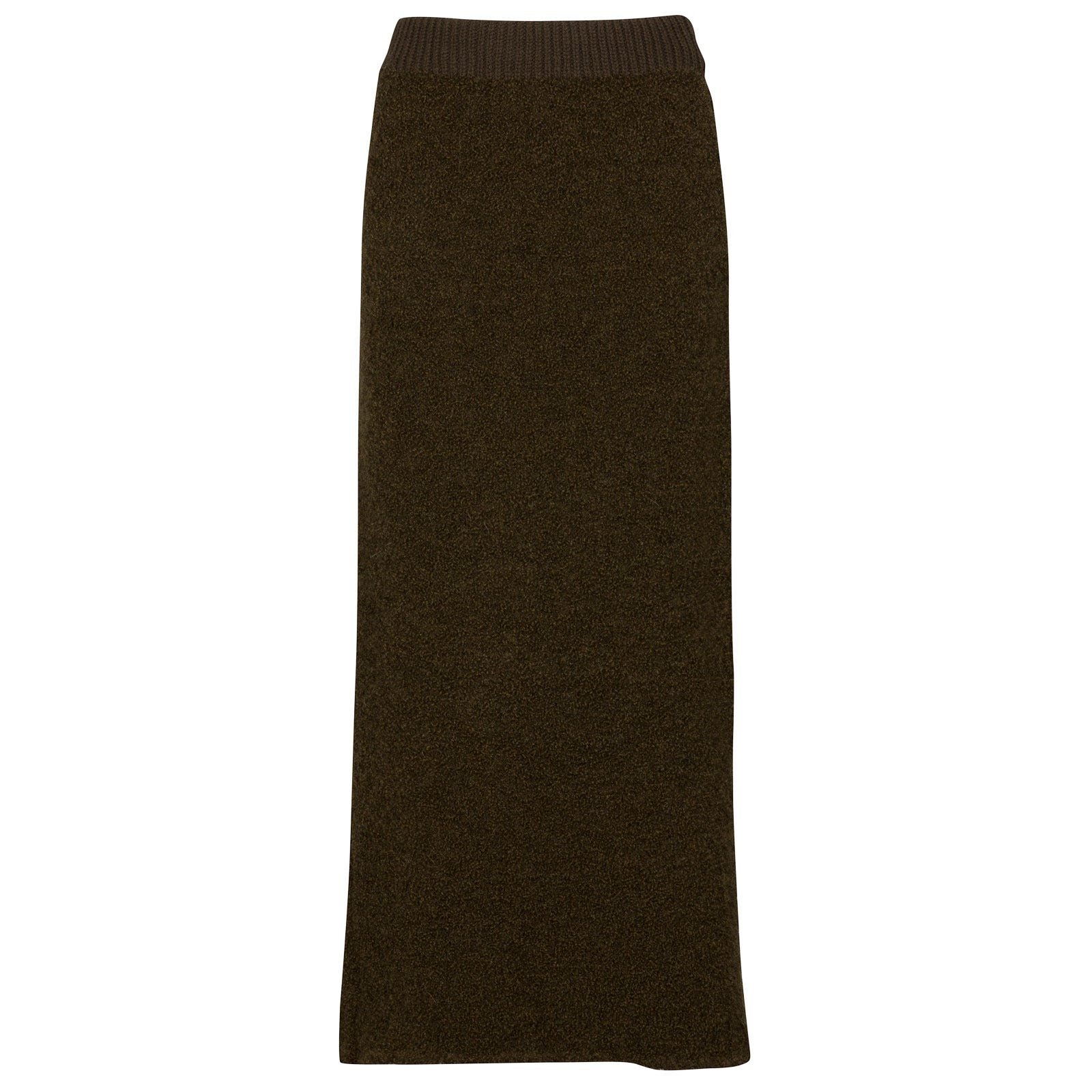 John Smedley orford Alpaca & Wool Skirt in Kielder Green-XL