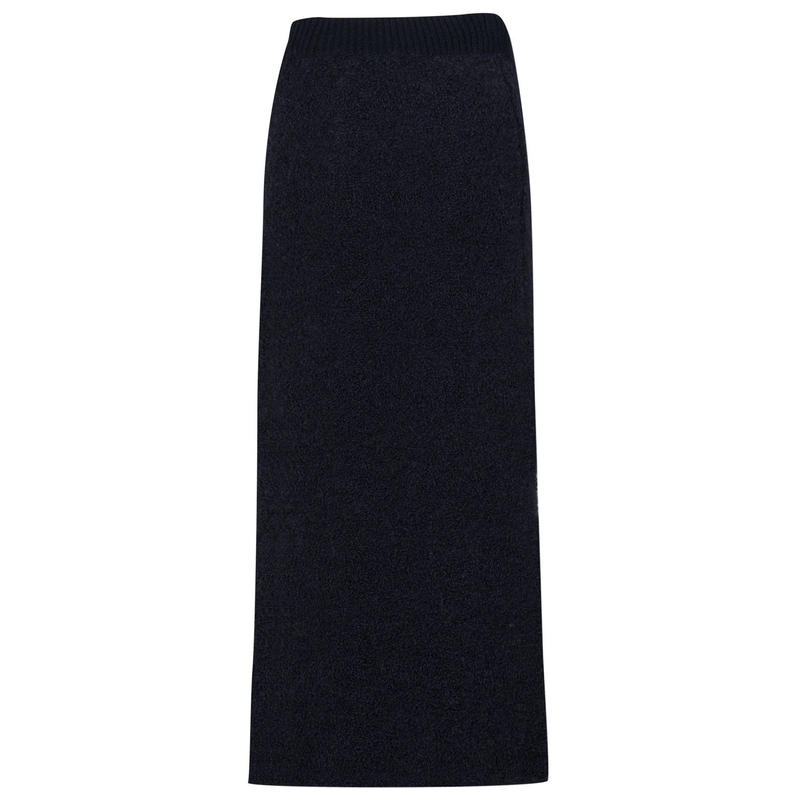 John Smedley Orford Alpaca & Wool Skirt in Midnight-S