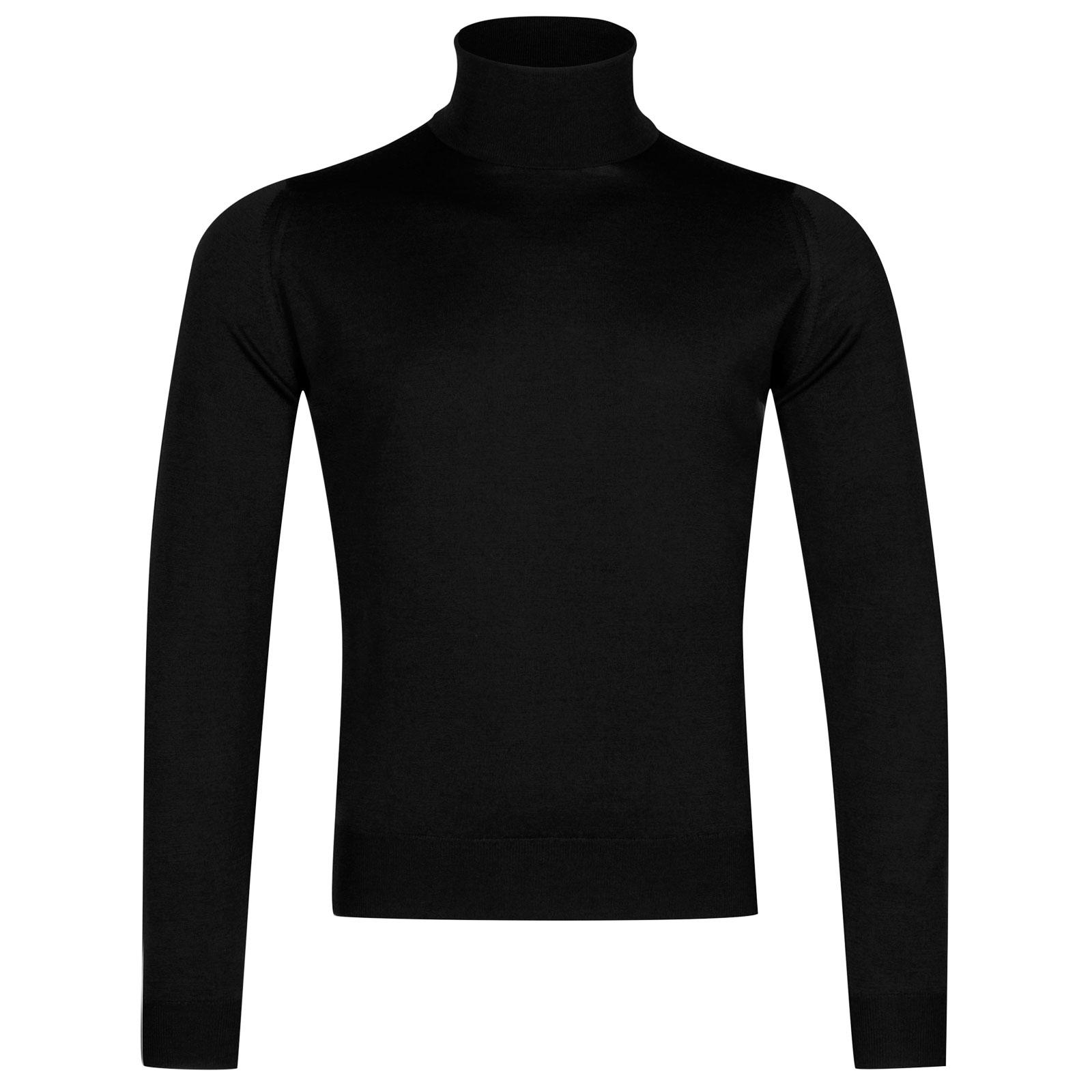 John Smedley Orta Merino Wool Pullover in Black-XL