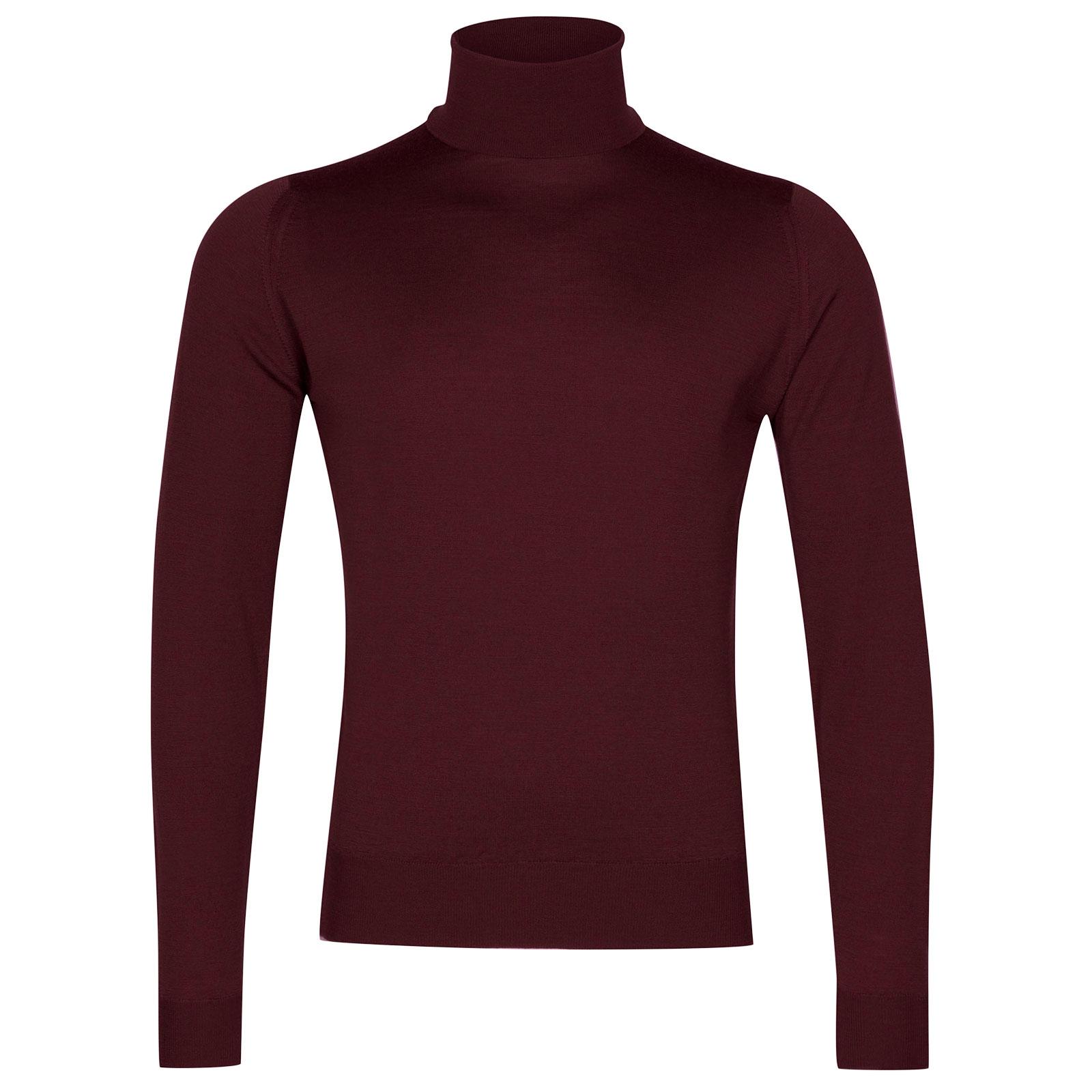 John Smedley Orta Merino Wool Pullover in Bordeaux-XXL