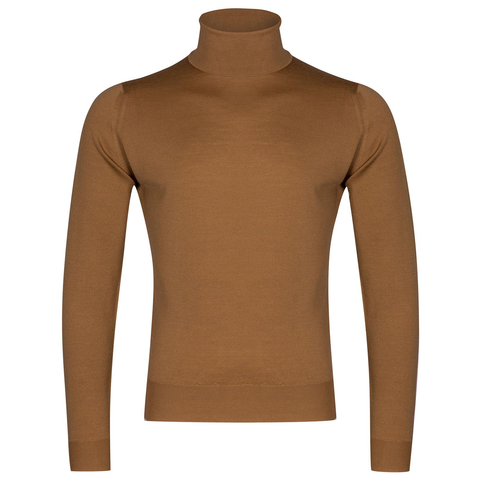John Smedley Orta Merino Wool Pullover in Camel-S