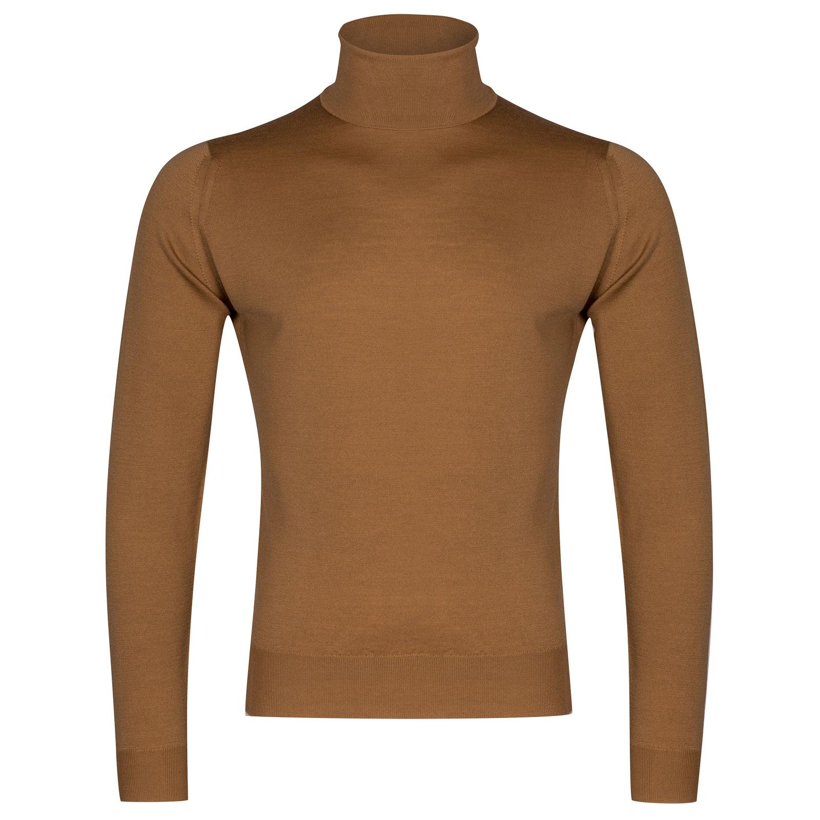 John Smedley Orta Merino Wool Pullover in Camel-L