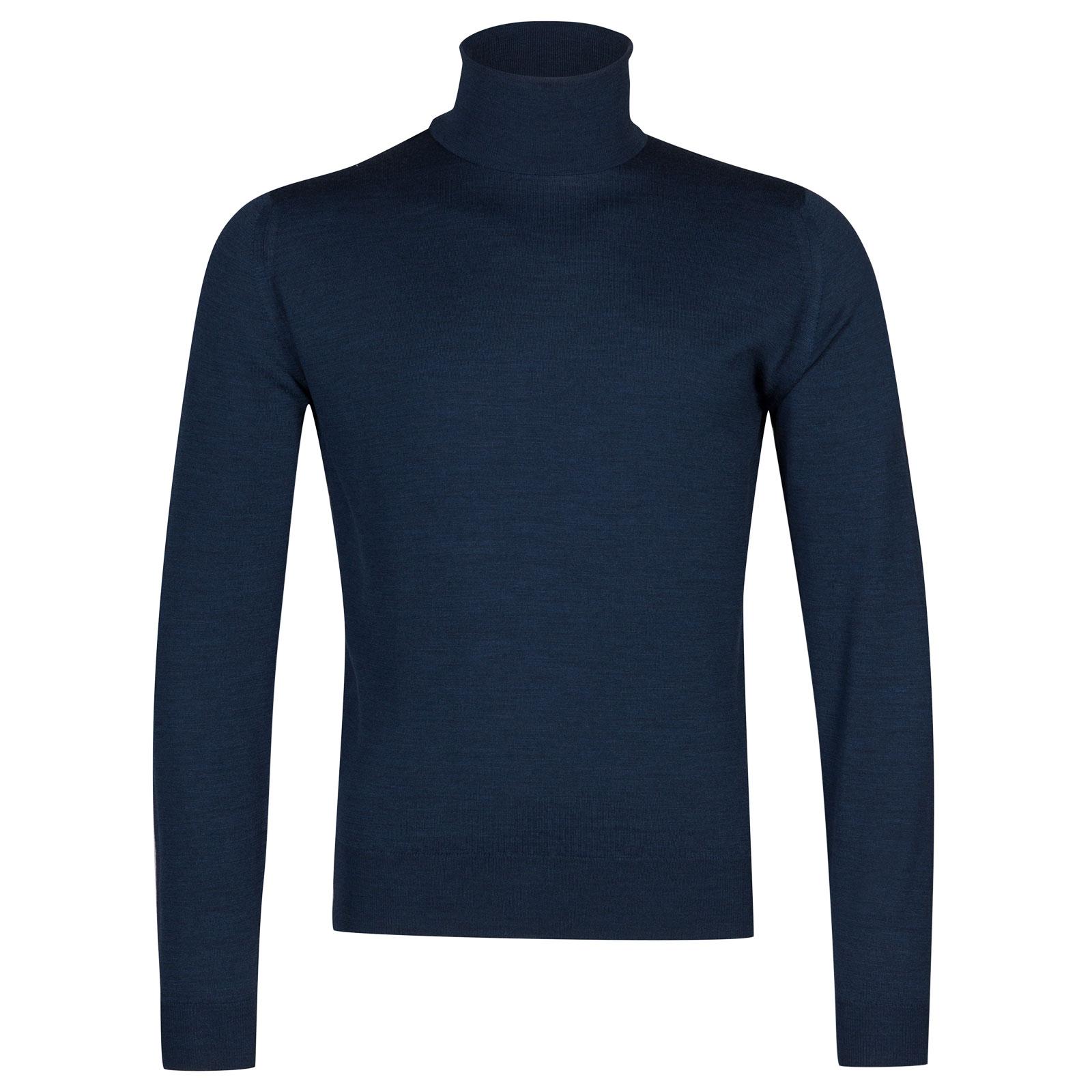 John Smedley Orta Merino Wool Pullover in Indigo-L