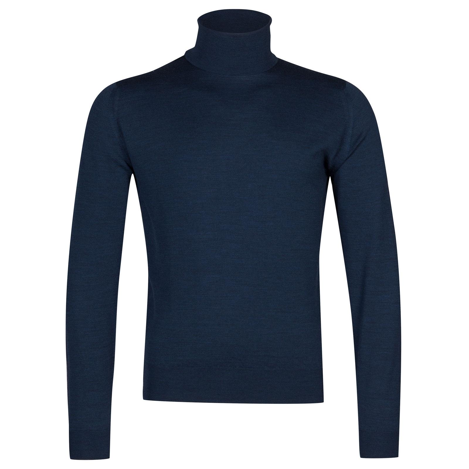 John Smedley Orta Merino Wool Pullover in Indigo-M