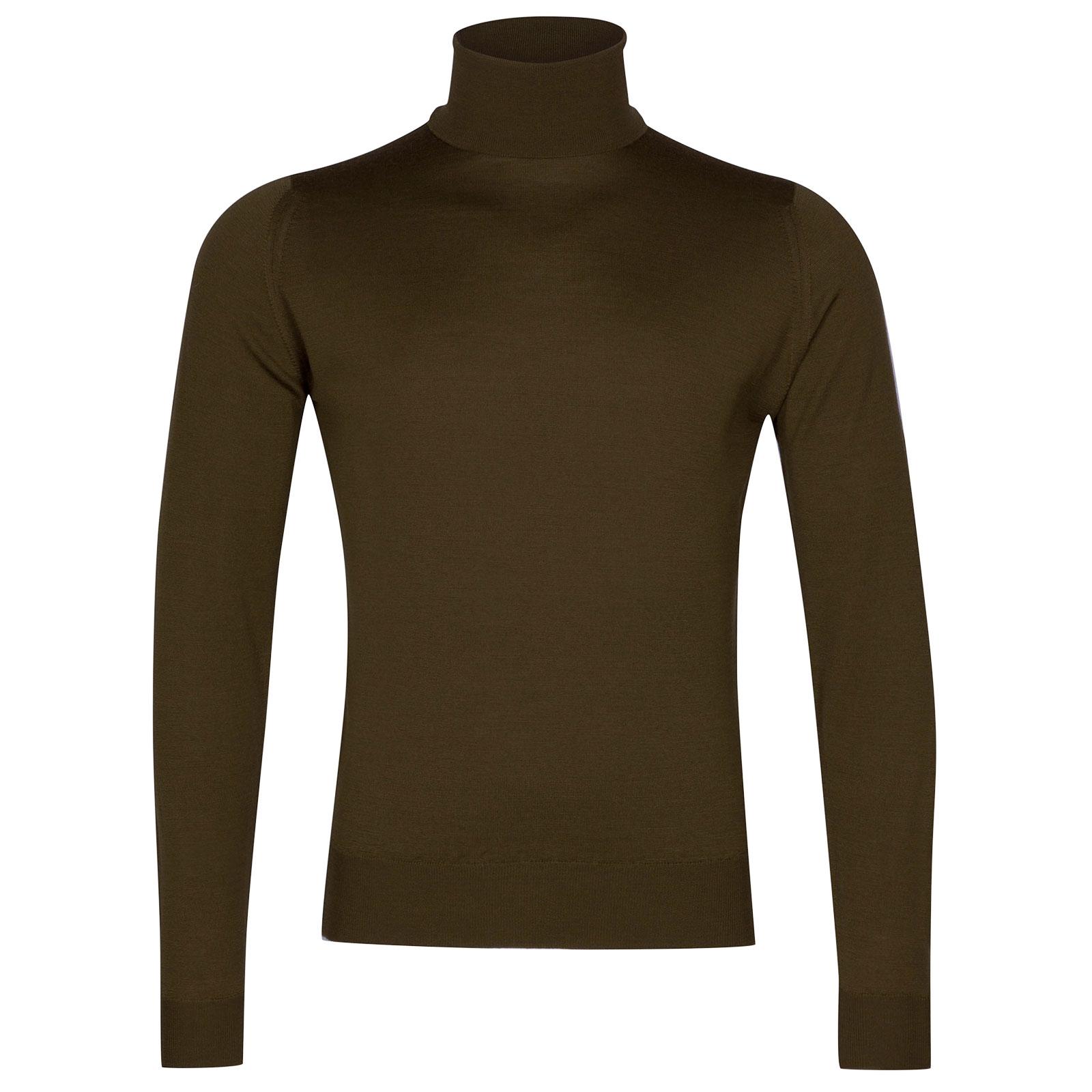 John Smedley Orta Merino Wool Pullover in Khaki-M