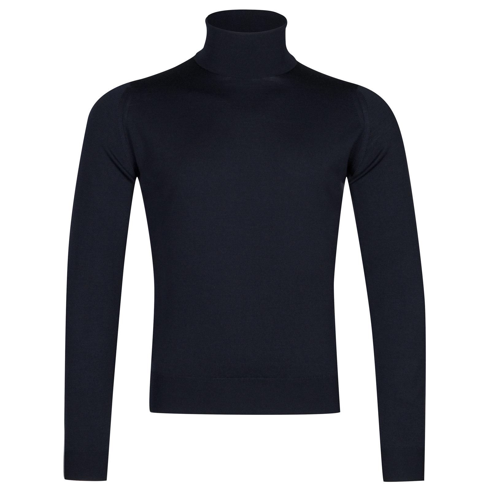 John Smedley Orta Merino Wool Pullover in Midnight-XXL