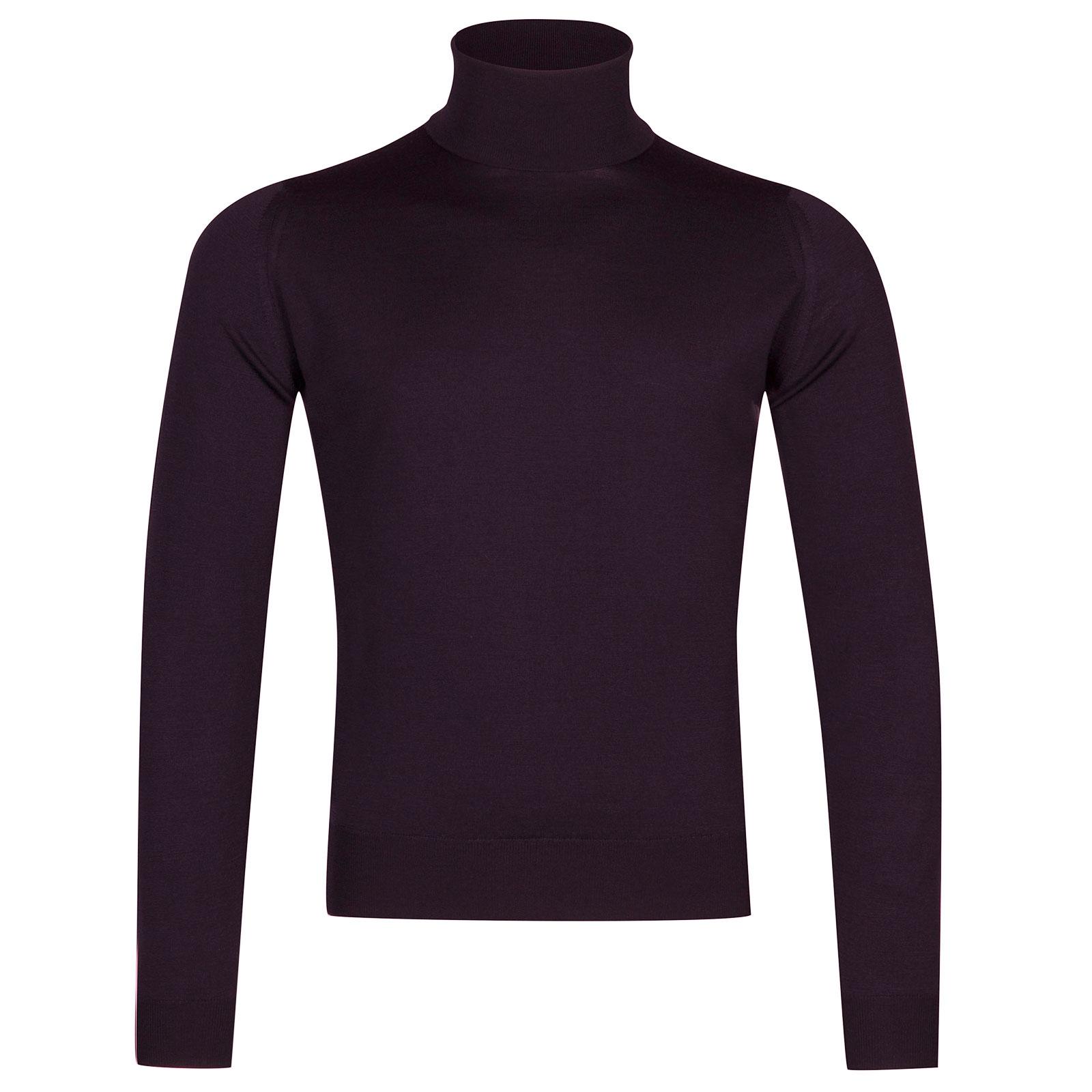 John Smedley Orta Merino Wool Pullover in Mystic Purple-XXL