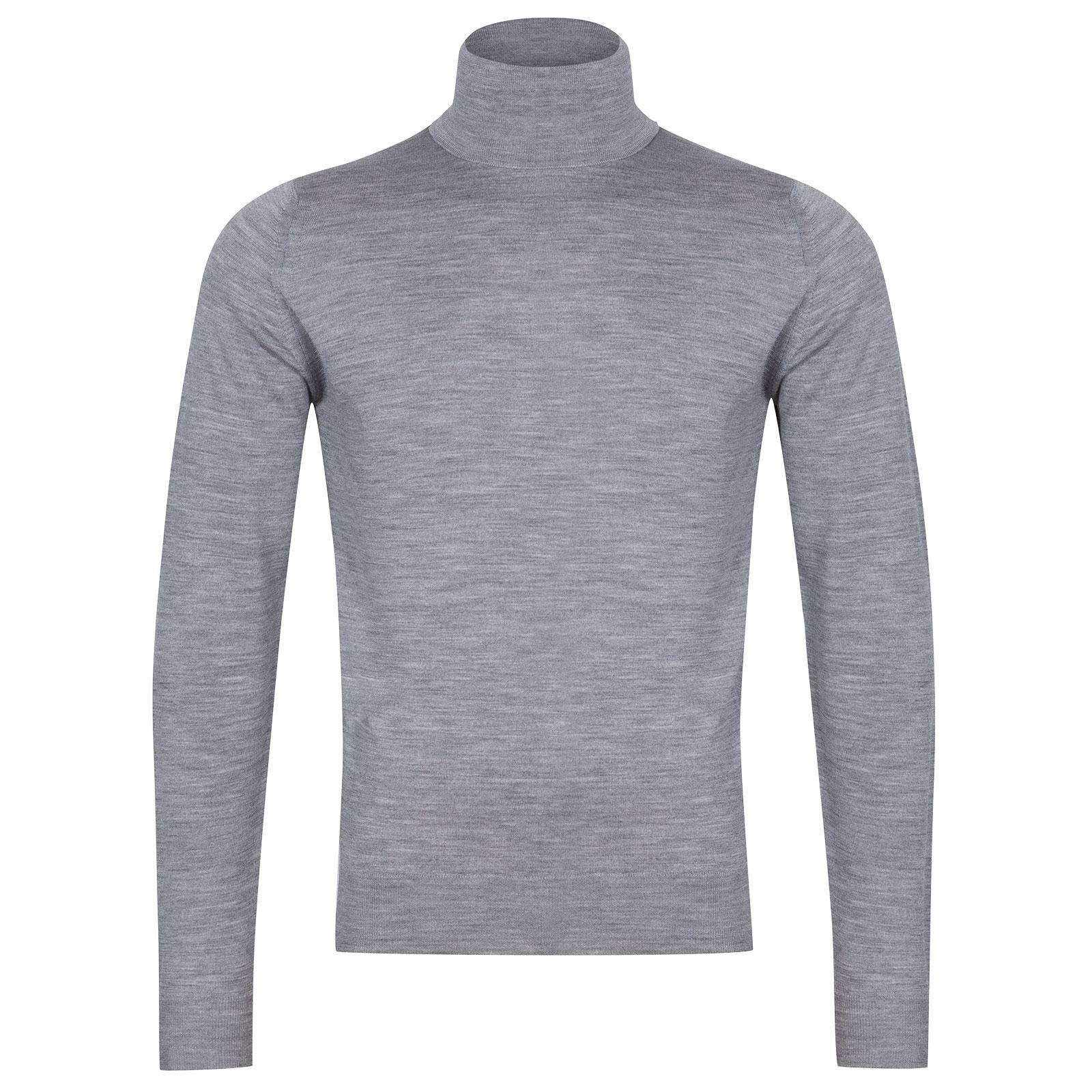 John Smedley Orta Merino Wool Pullover in Silver-XL
