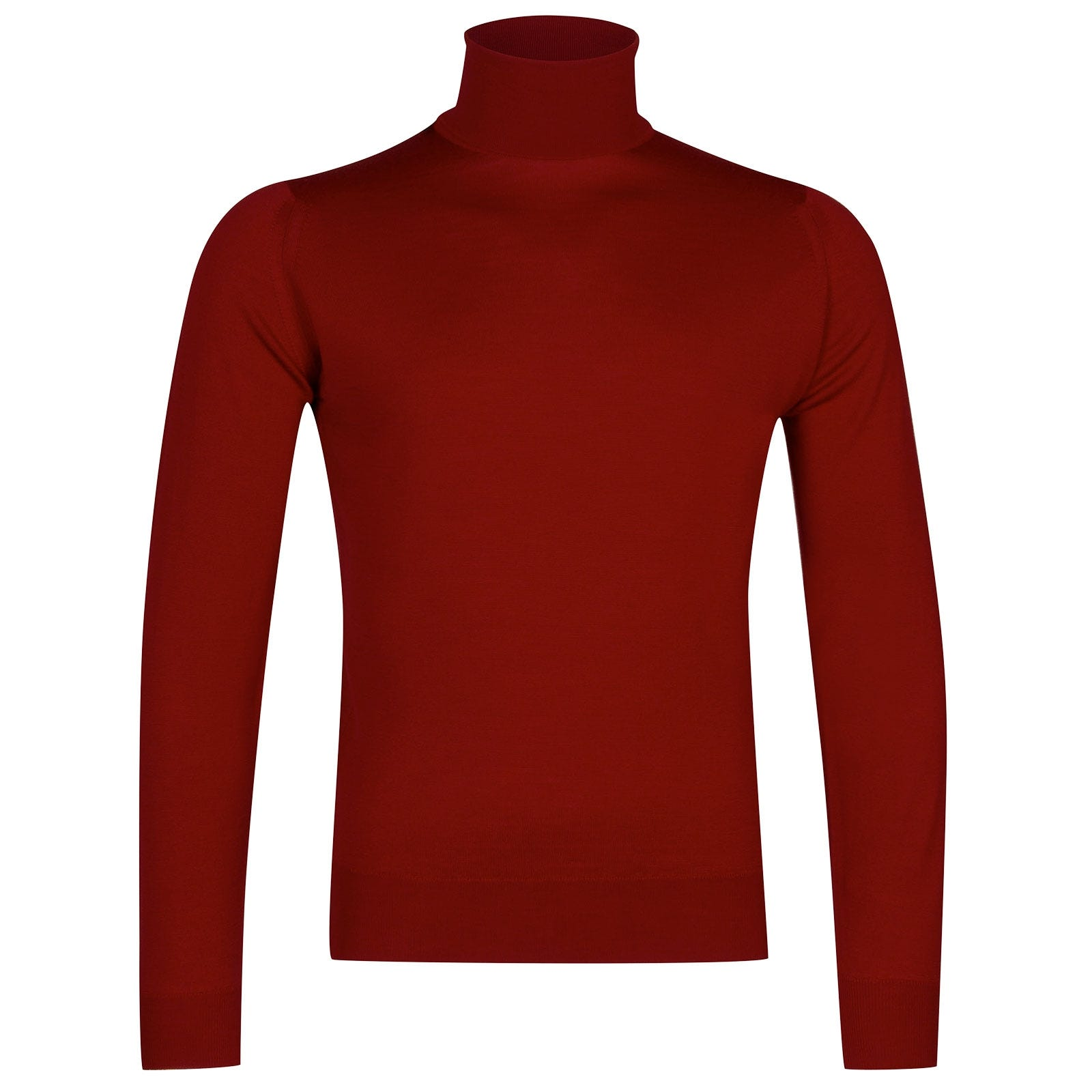 John Smedley Orta Merino Wool Pullover in Thermal Red-XXL