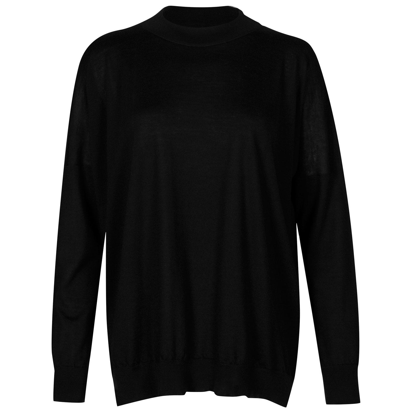 John Smedley osha Merino Wool and Cashmere Sweater in Black-M