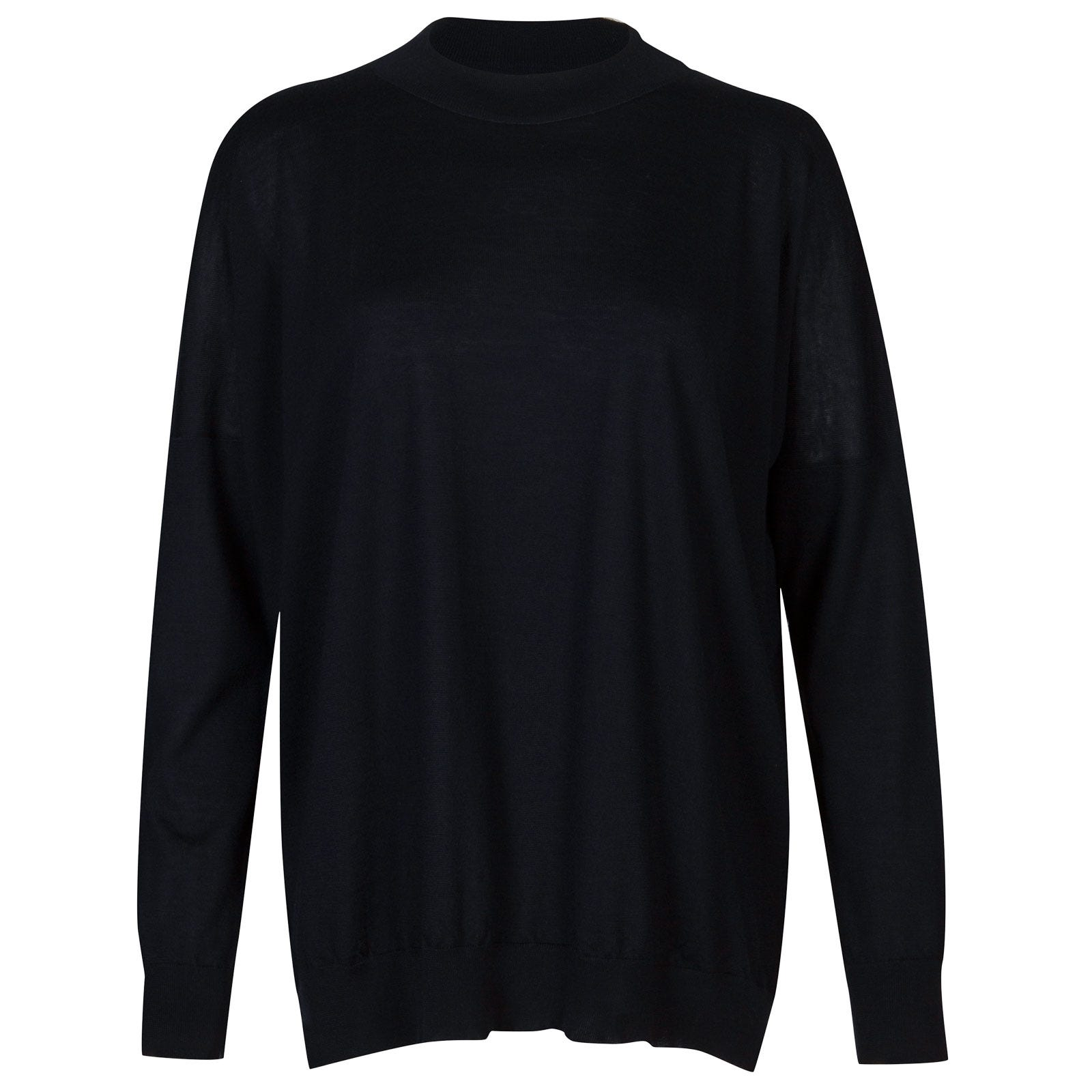 John Smedley osha Merino Wool and Cashmere Sweater in Midnight-XL