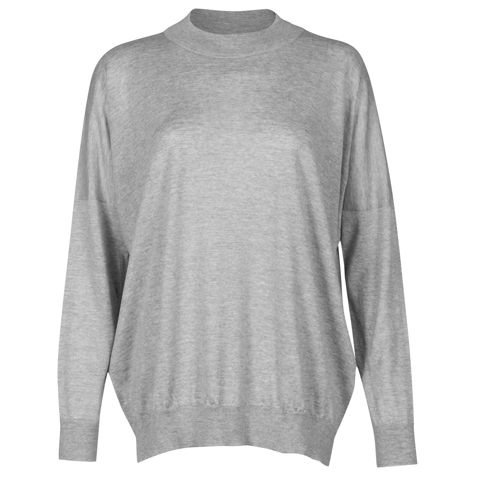 John Smedley osha Merino Wool and Cashmere Sweater in Soft Grey-L