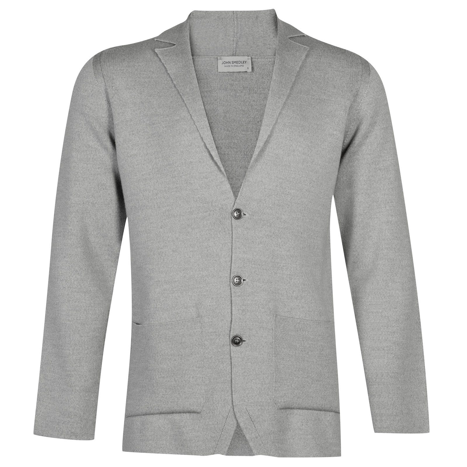 John Smedley Oxland Merino Wool Jacket in Bardot Grey-XL