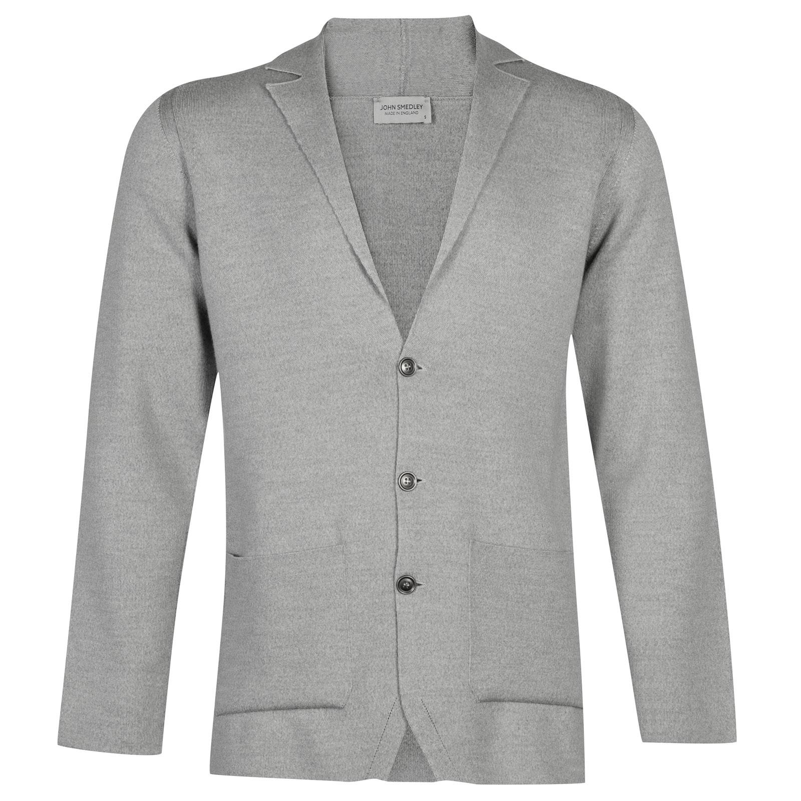 John Smedley Oxland Merino Wool Jacket in Bardot Grey-S