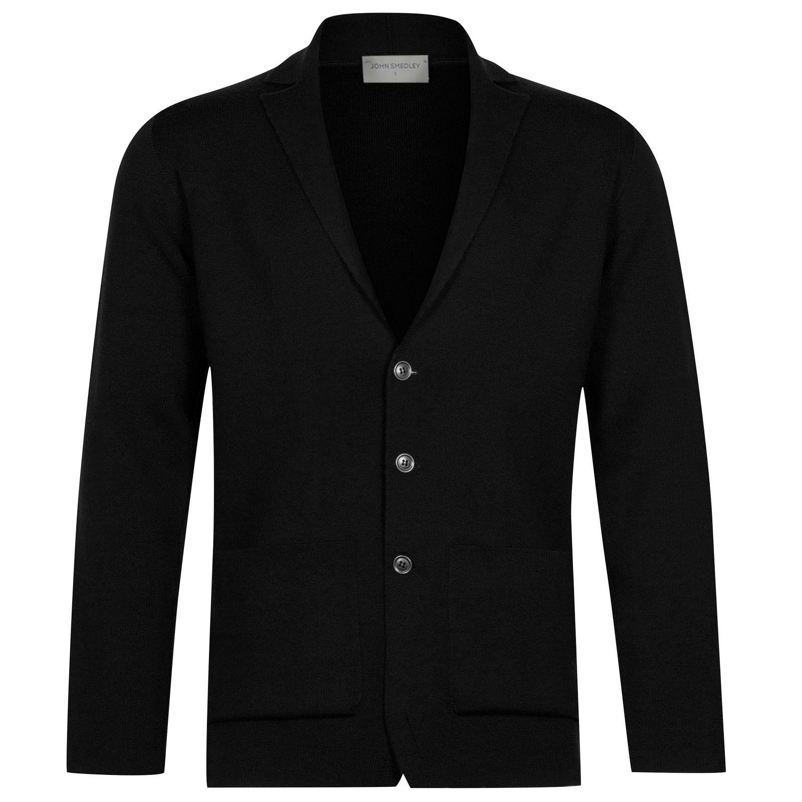 John Smedley Oxland Merino Wool Jacket in Black-S